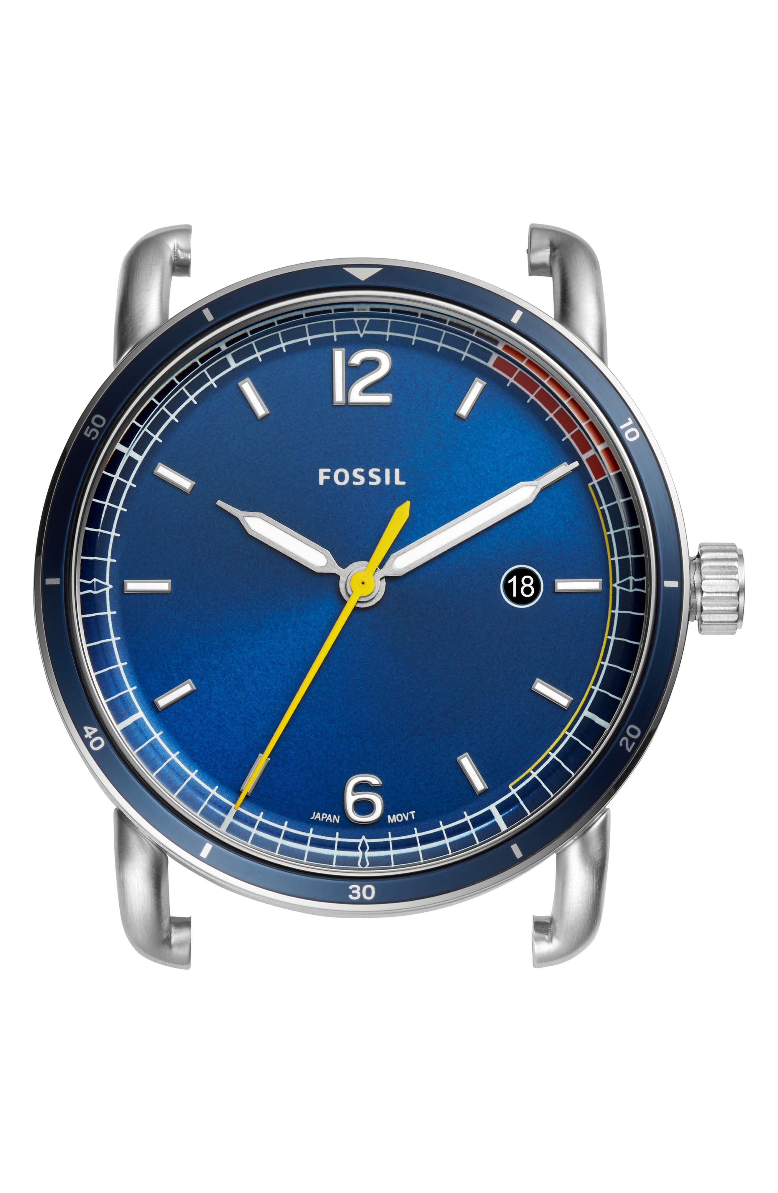 The Commuter Watch Case, 42mm,                             Main thumbnail 1, color,                             BLUE/ BLUE/ BLUE