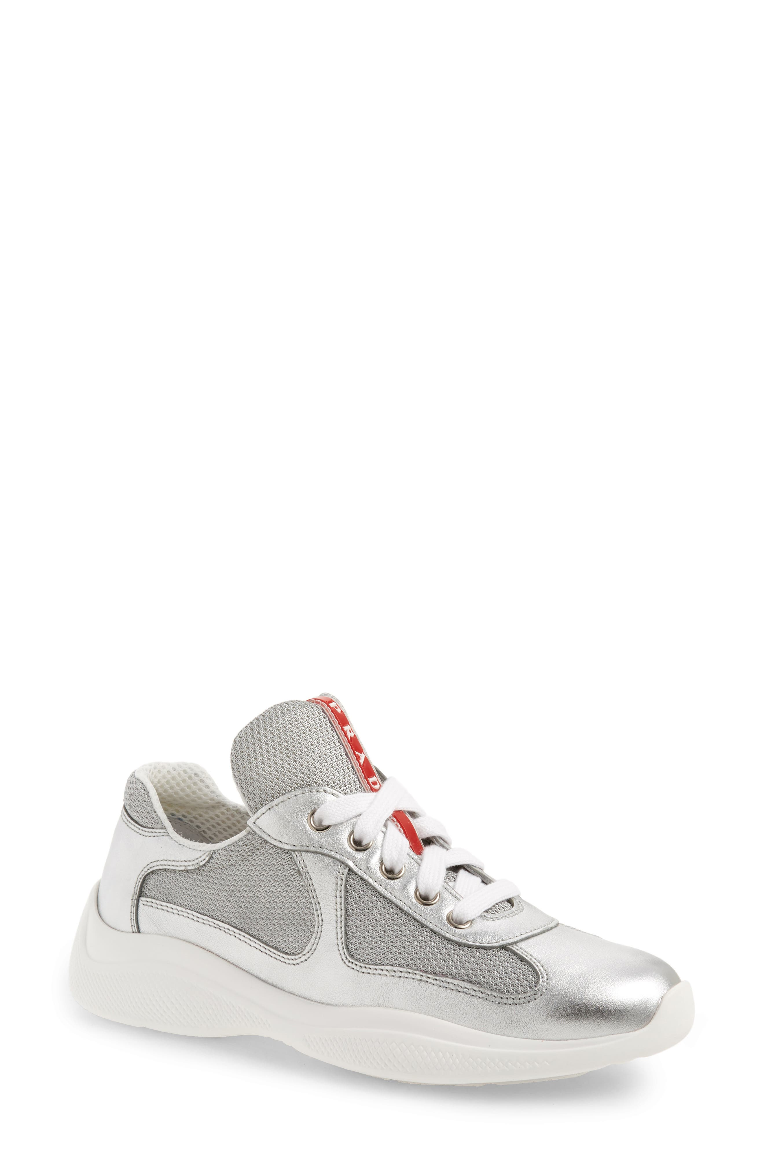 Low-Top Sneaker,                         Main,                         color, METALLIC SILVER