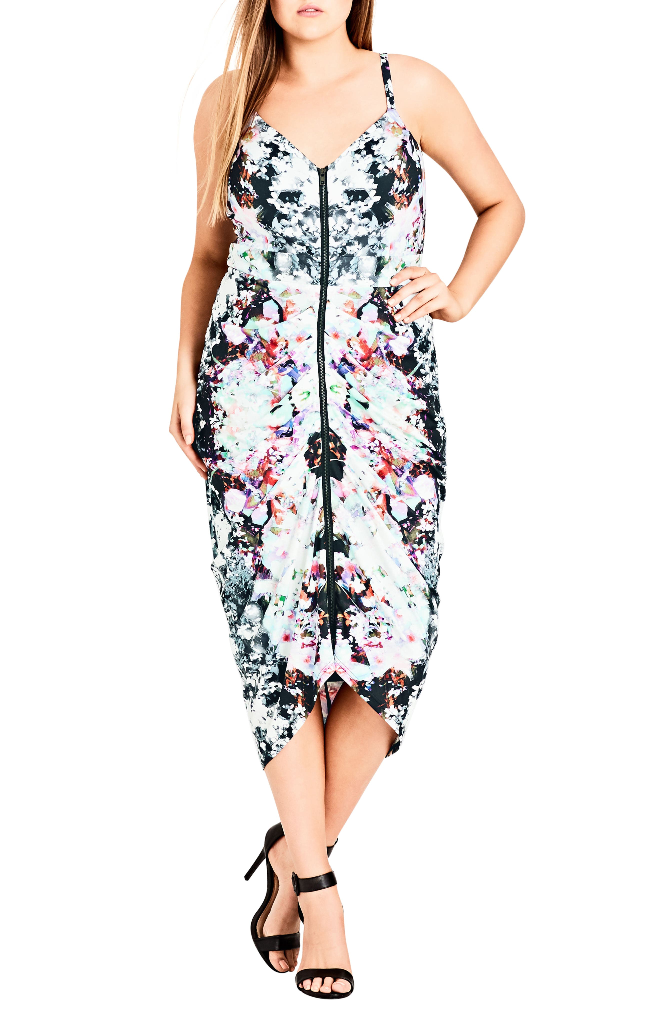 Plus Size City Chic Fresh Floral Body-Con Dress