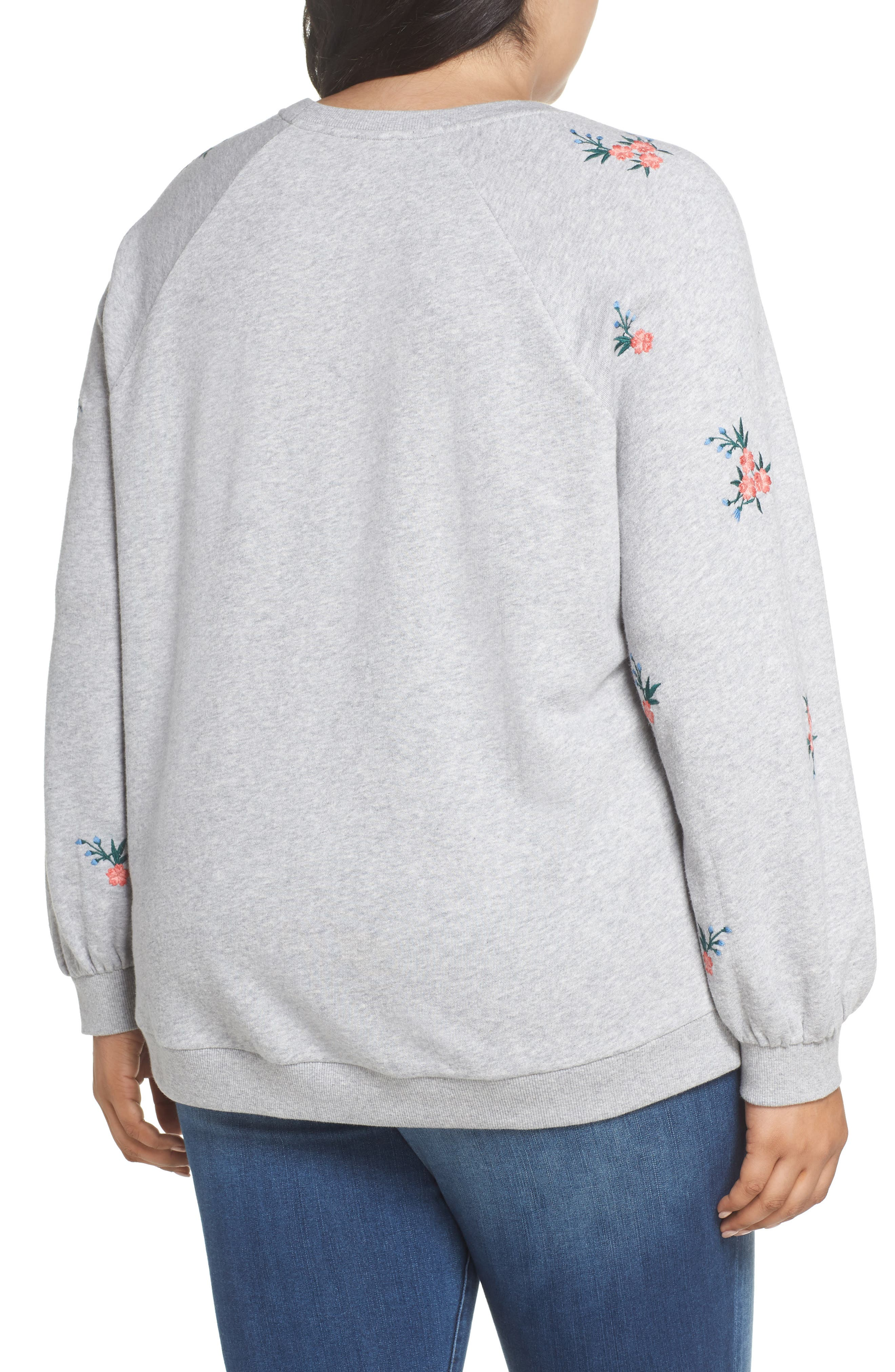 Embroidered Cotton Sweatshirt,                             Alternate thumbnail 2, color,                             030