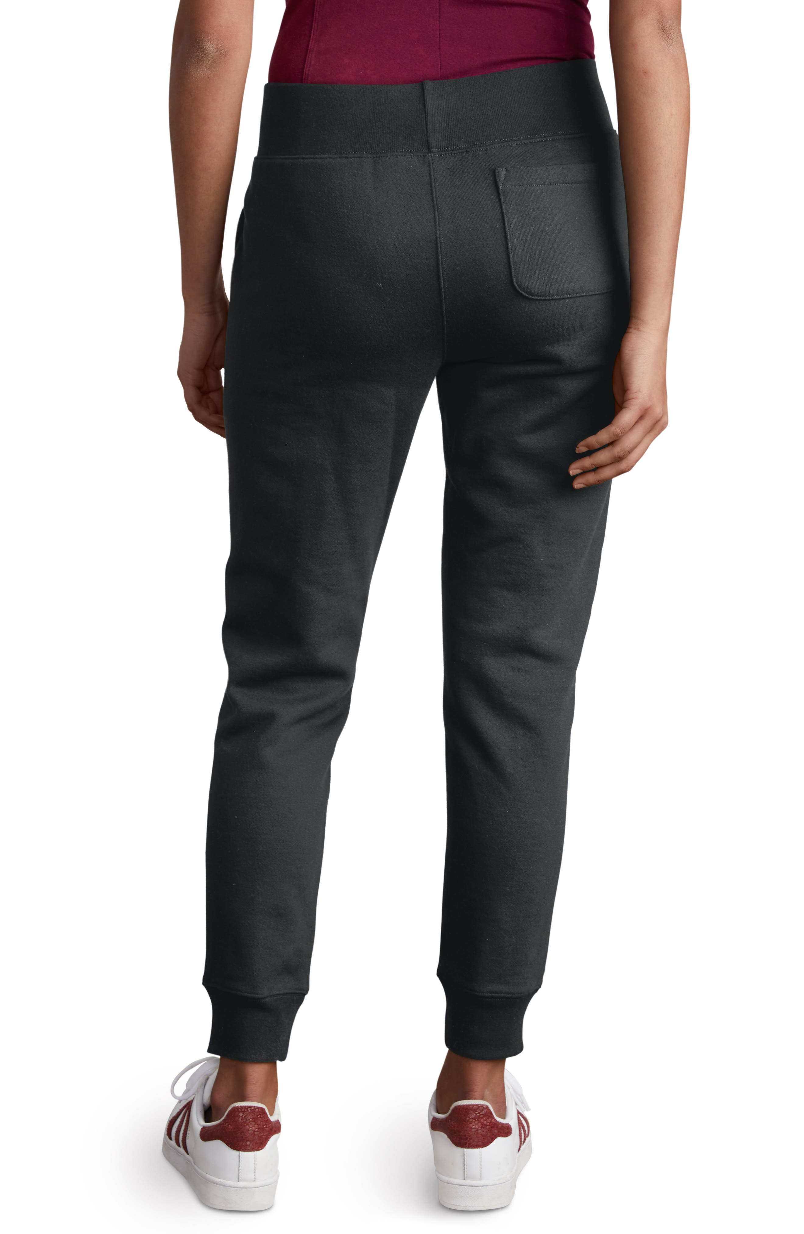 Reverse Weave Jogger Pants,                             Alternate thumbnail 2, color,                             BLACK