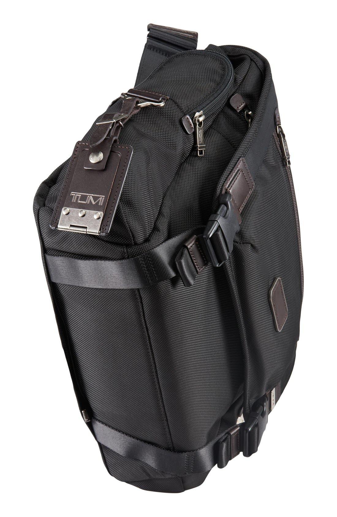 'Alpha Bravo - Benning' Deluxe Messenger Bag,                             Alternate thumbnail 5, color,                             001