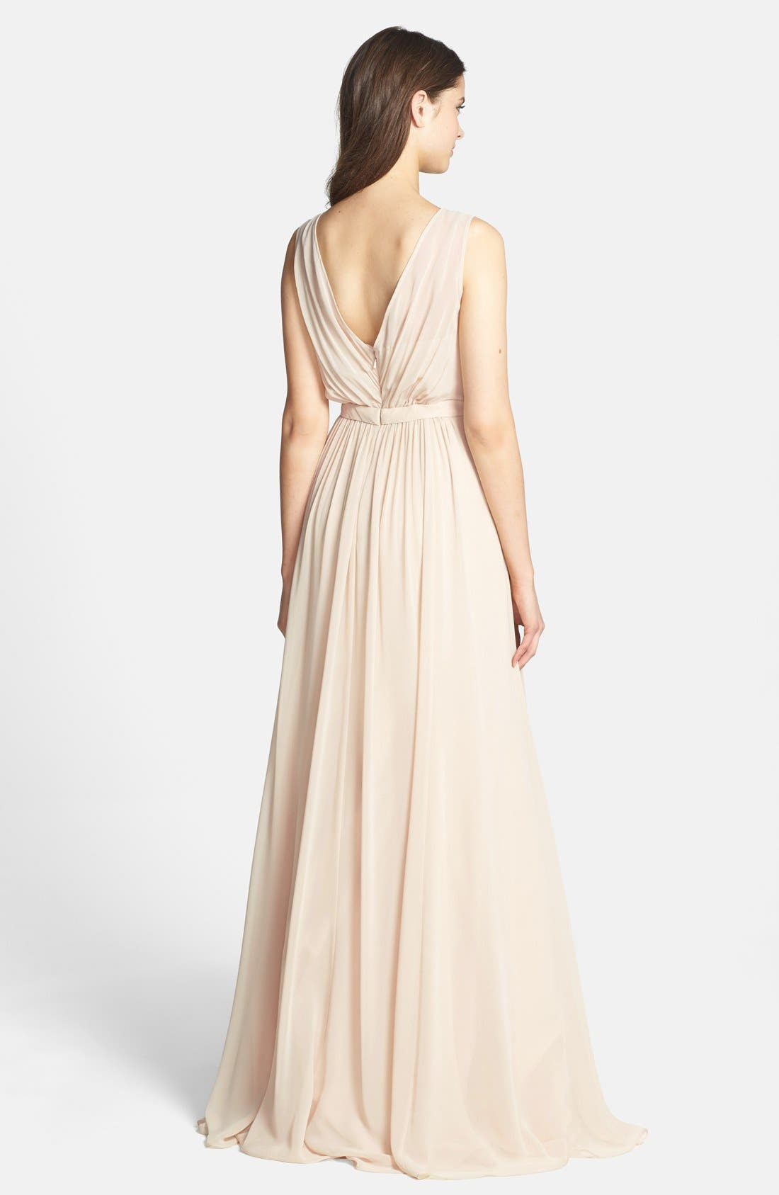 Vivienne Pleated Chiffon Gown,                             Alternate thumbnail 29, color,