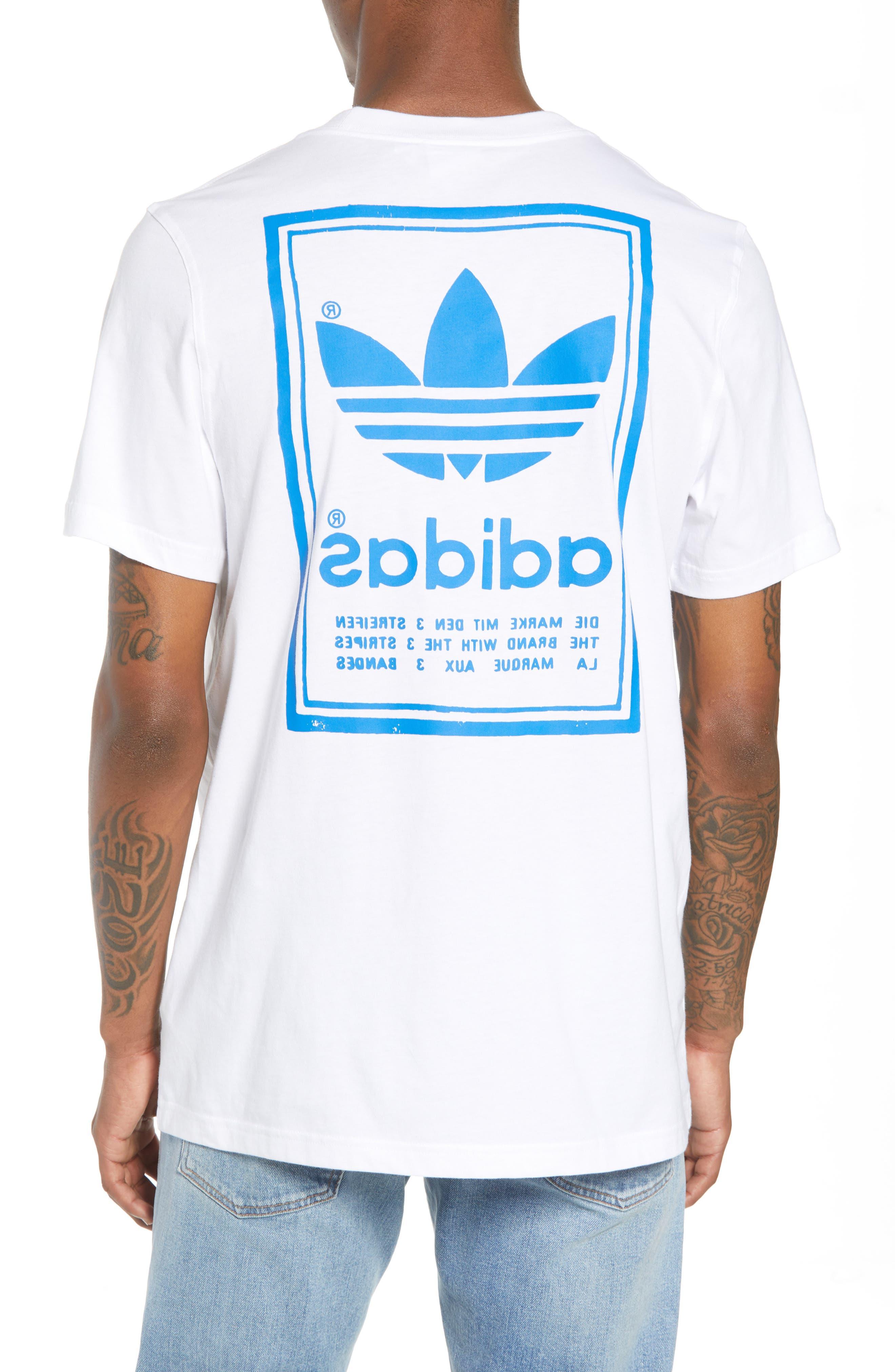 adidas Vintage Logo Graphic T-Shirt,                             Alternate thumbnail 2, color,                             100