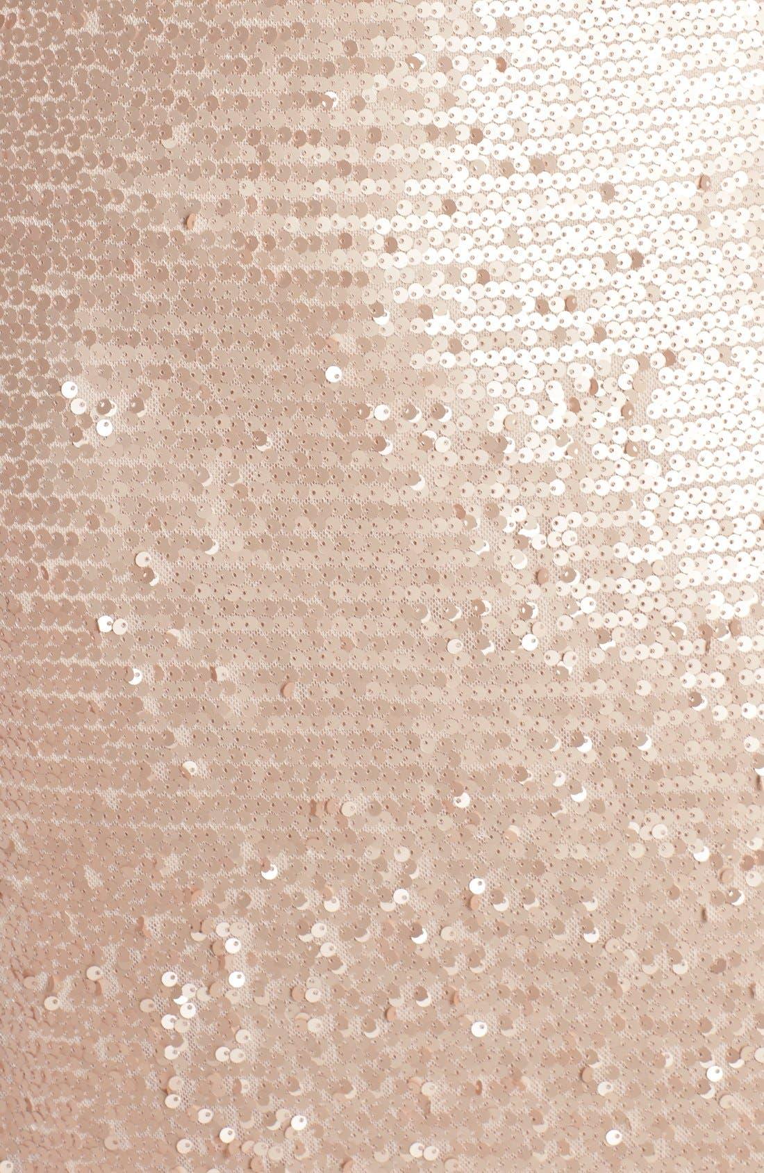 Sequin Mesh A-Line Gown,                             Alternate thumbnail 5, color,                             221