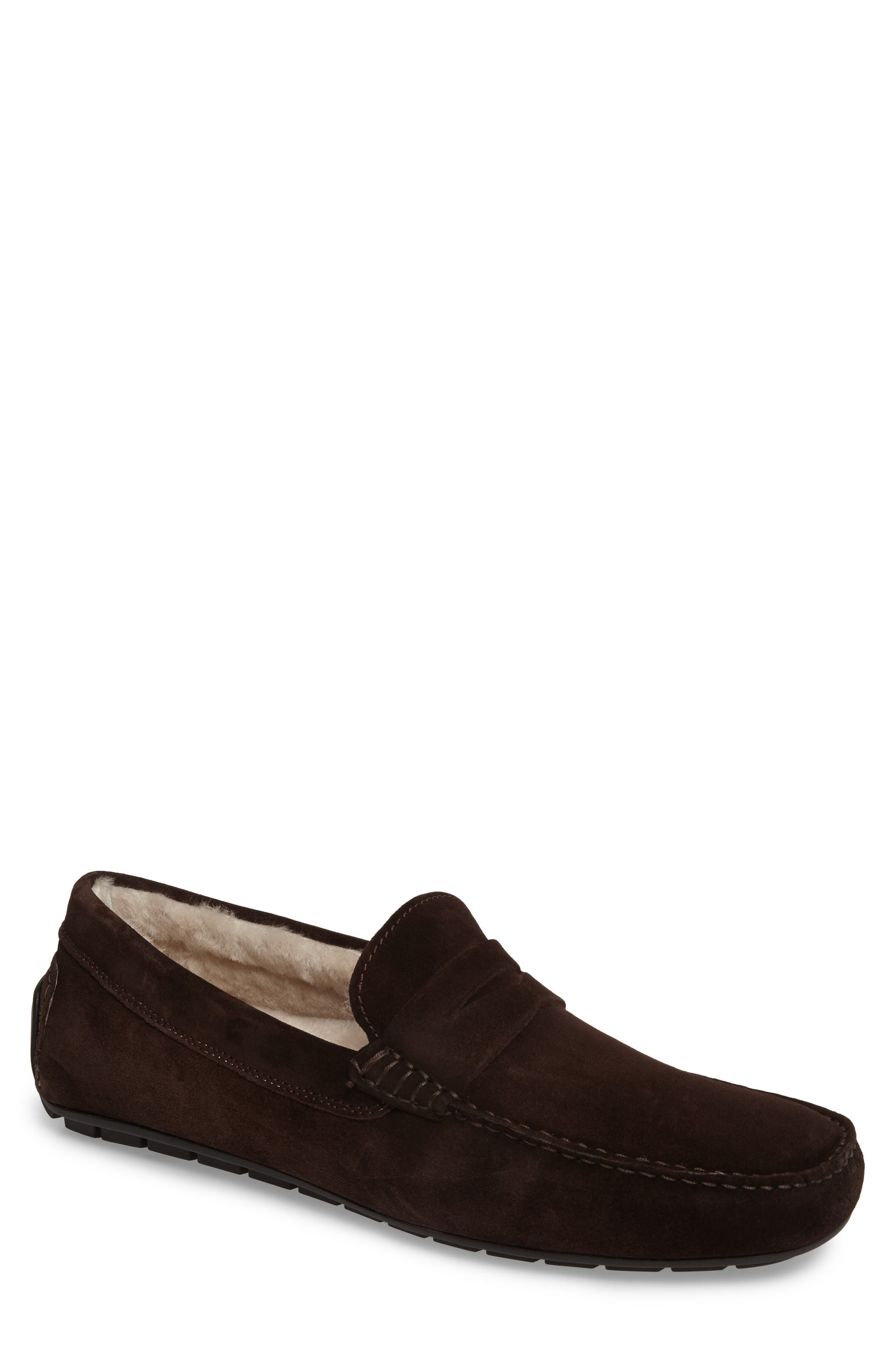 Norse Penny Loafer with Genuine Shearling,                             Main thumbnail 2, color,