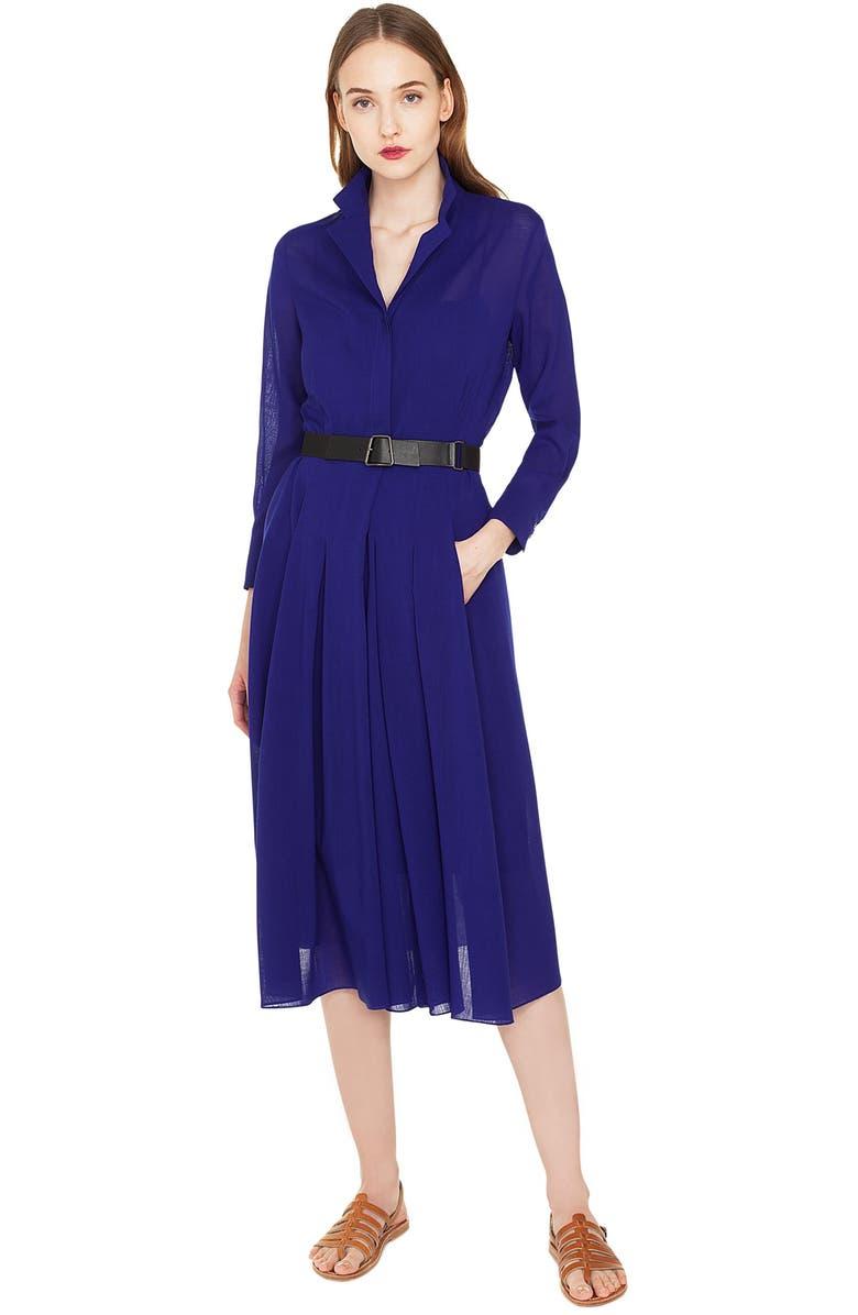 edba5b98bef Akris Belted Wool Georgette Dress