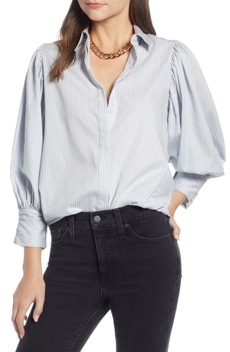 Something Navy Full Sleeve Stripe Shirt (Nordstrom Exclusive) | Nordstrom