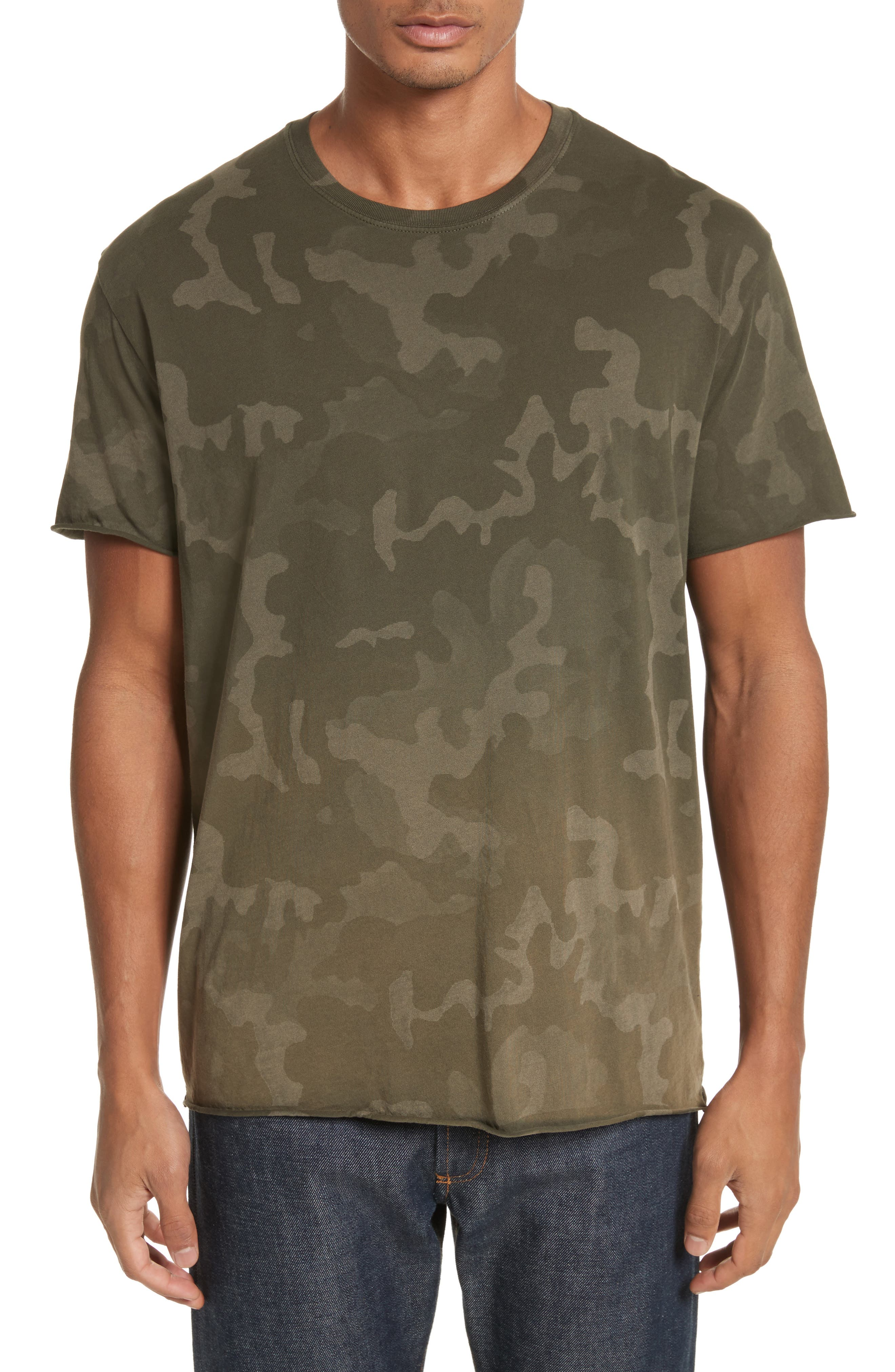 Camo Print Crewneck T-Shirt,                             Main thumbnail 1, color,                             341