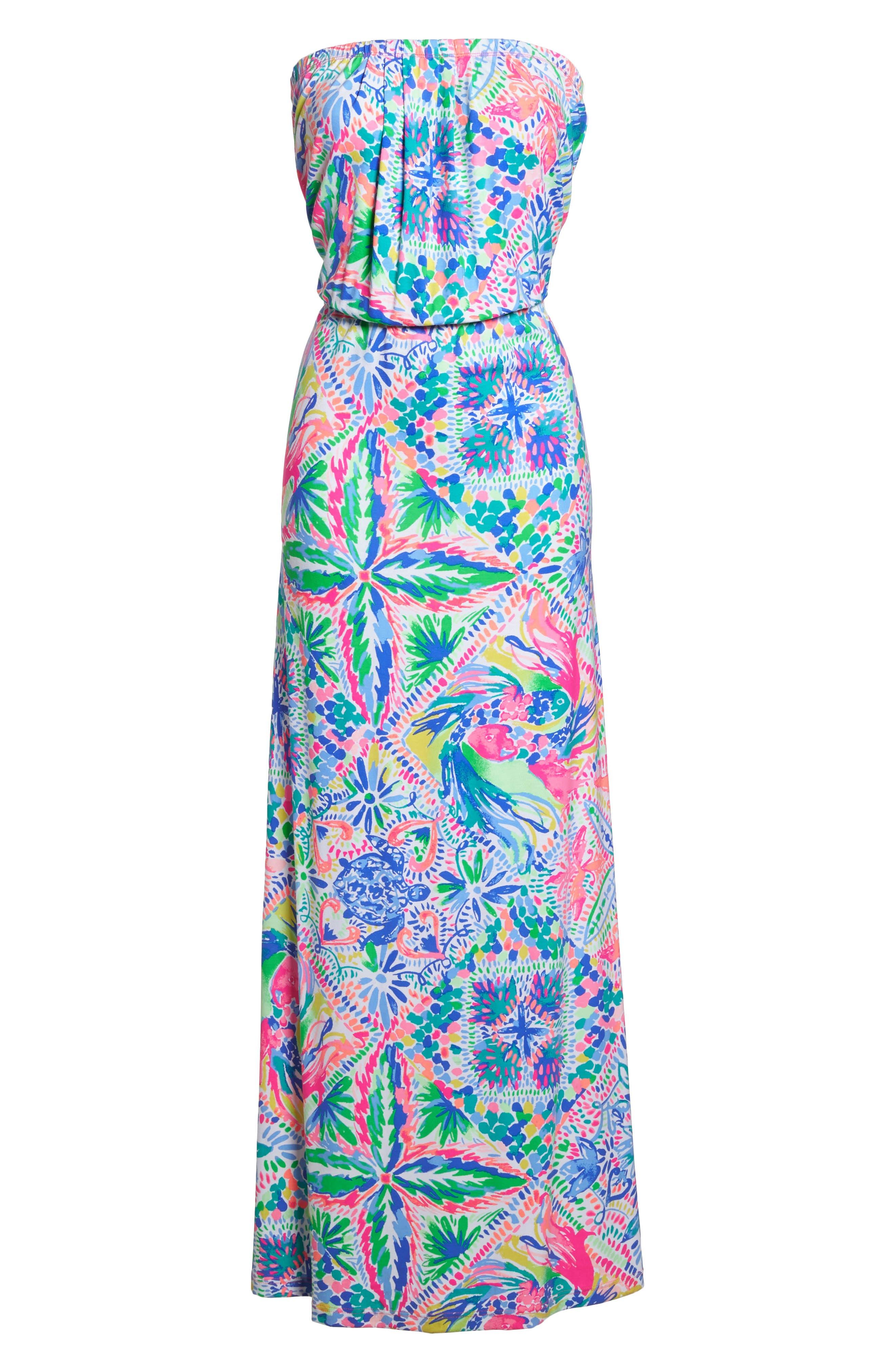 Marlisa Maxi Dress,                             Alternate thumbnail 7, color,                             MULTI DANCING ON THE DECK