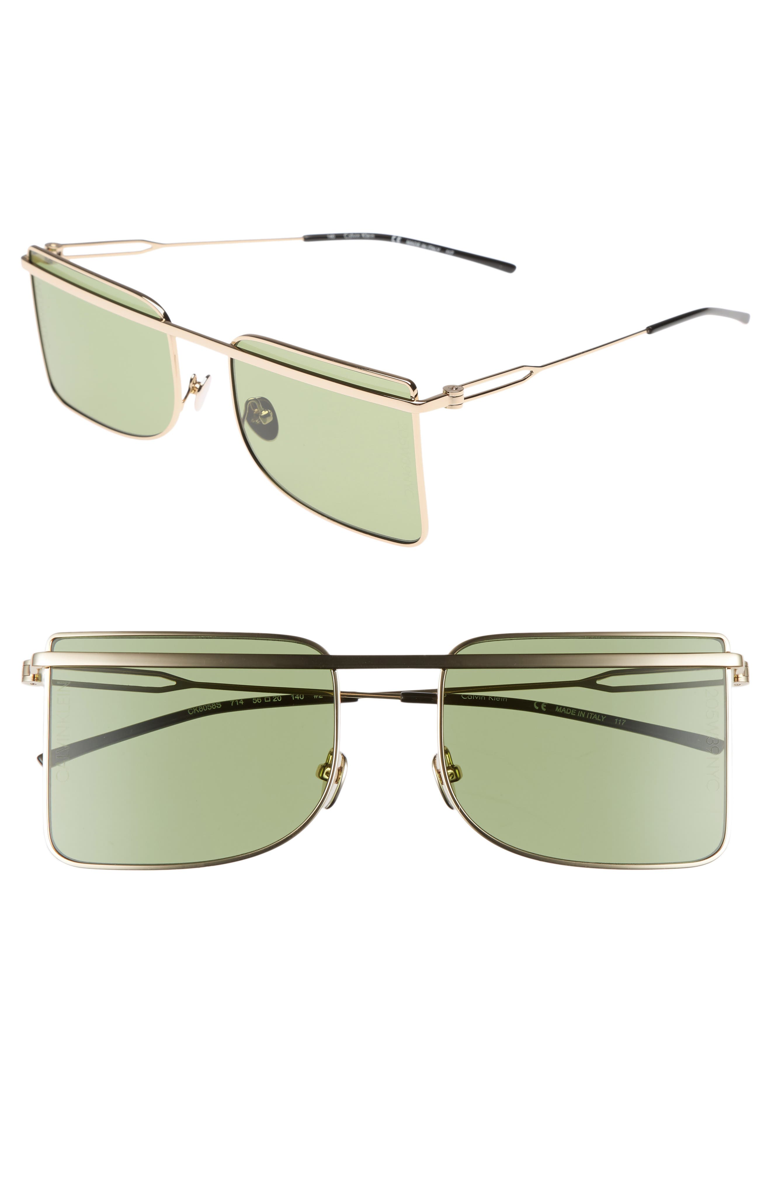 205W39NYC 56mm Butterfly Sunglasses,                             Main thumbnail 2, color,