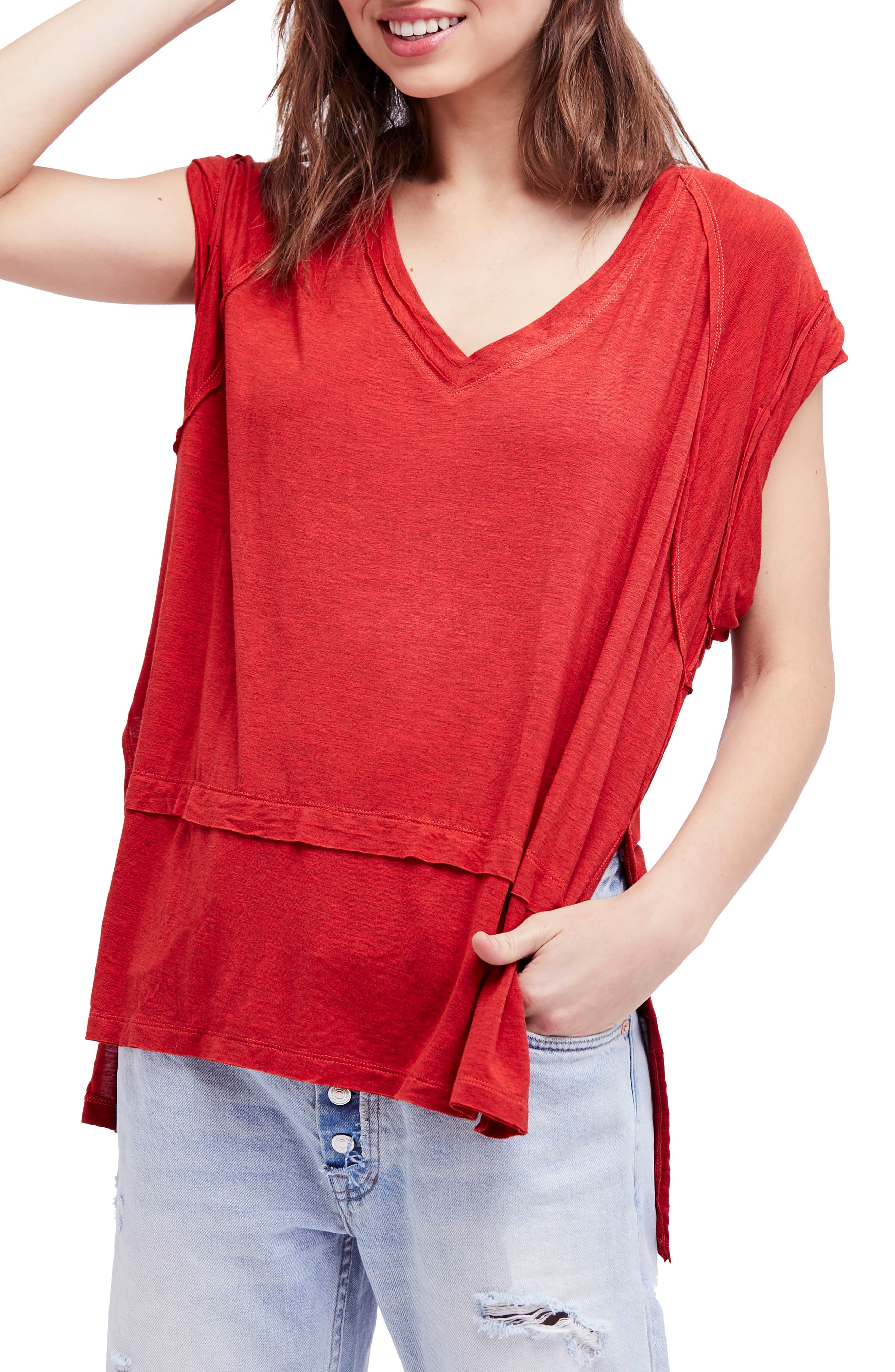 We the Free by Free People Voyage Tee,                             Main thumbnail 5, color,