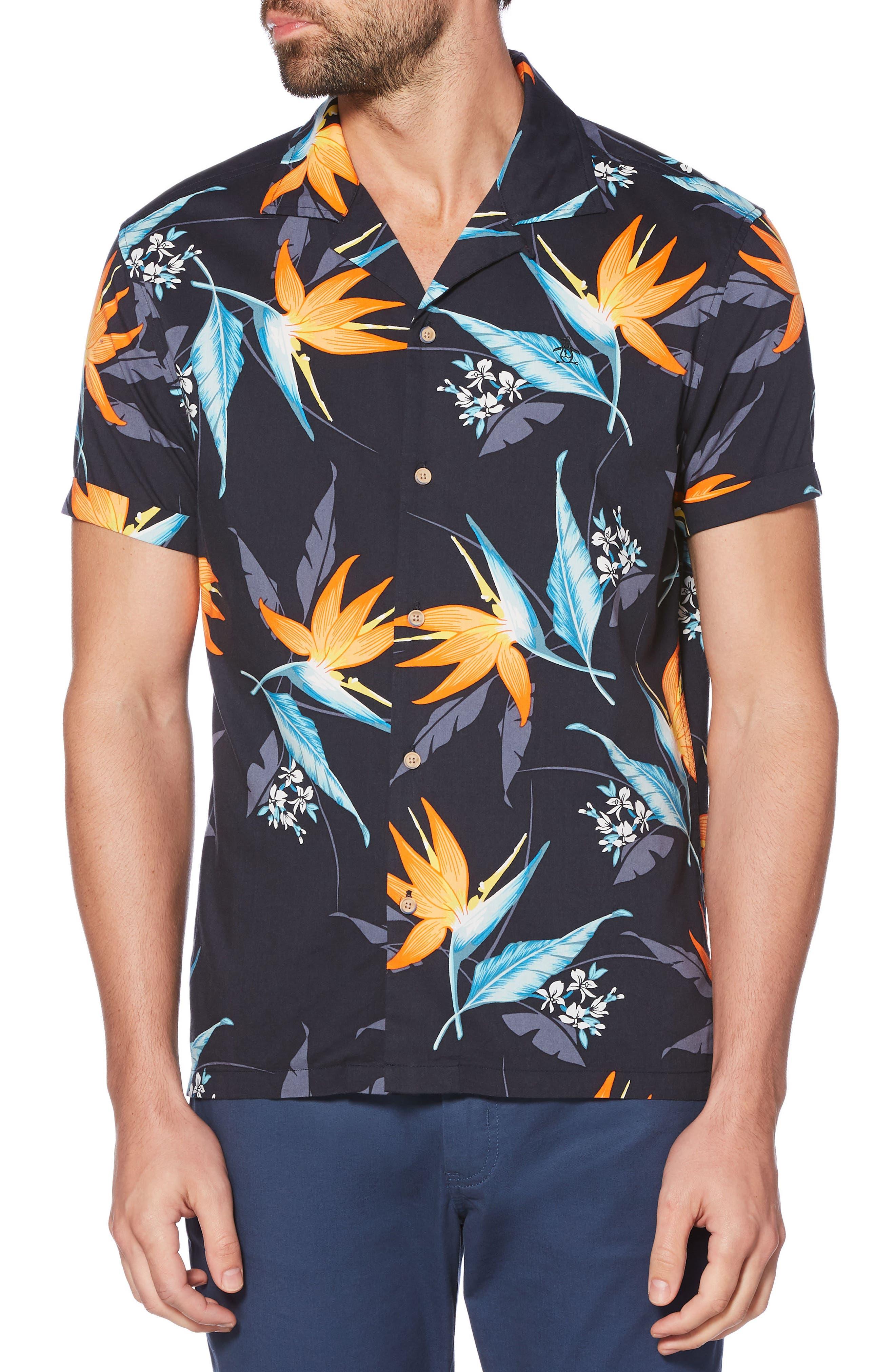 Tropical Floral Shirt,                             Main thumbnail 1, color,                             413