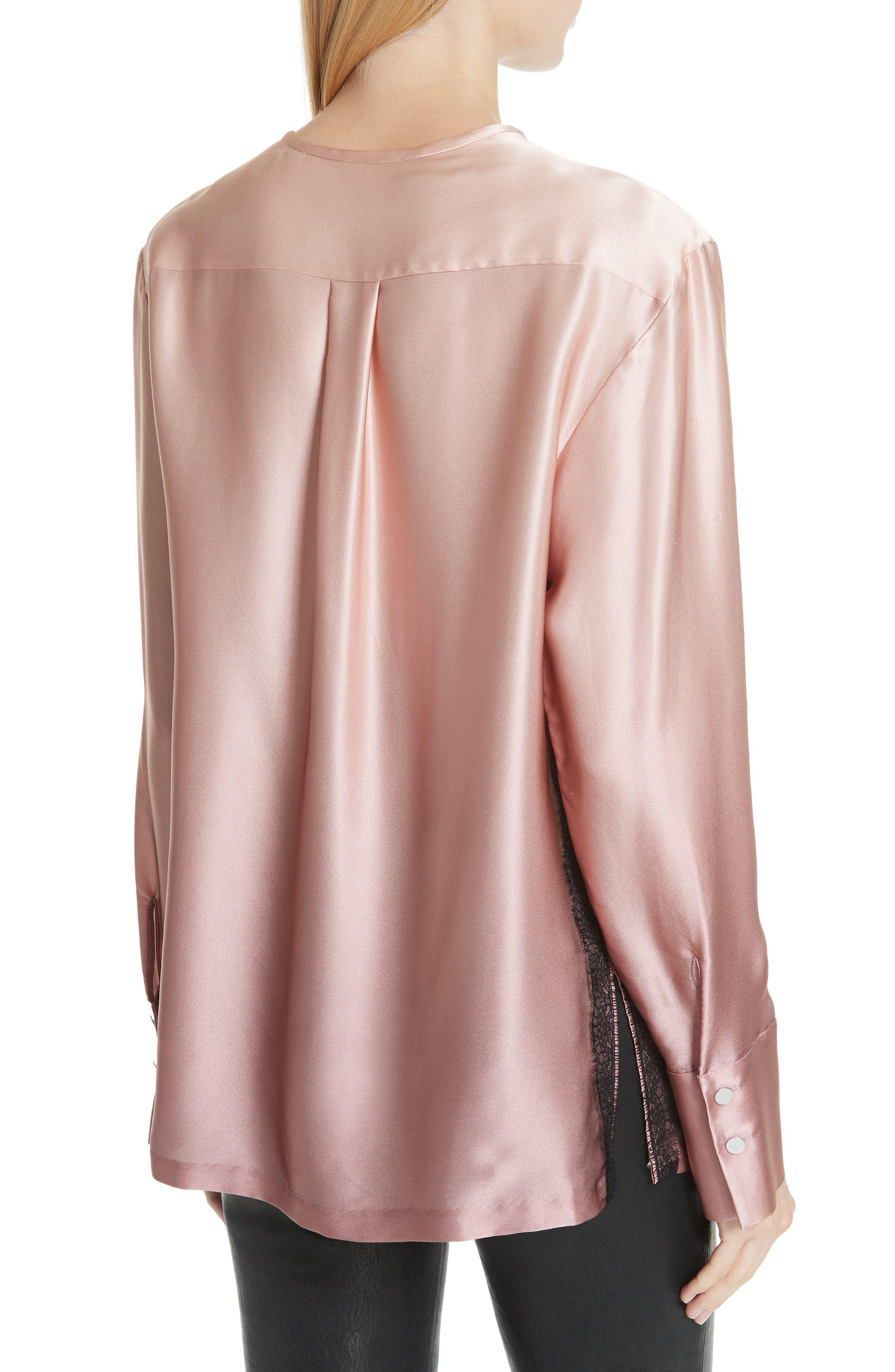 GREY Jason Wu Ombré Silk Shirt,                             Alternate thumbnail 2, color,                             DESERT ROSE