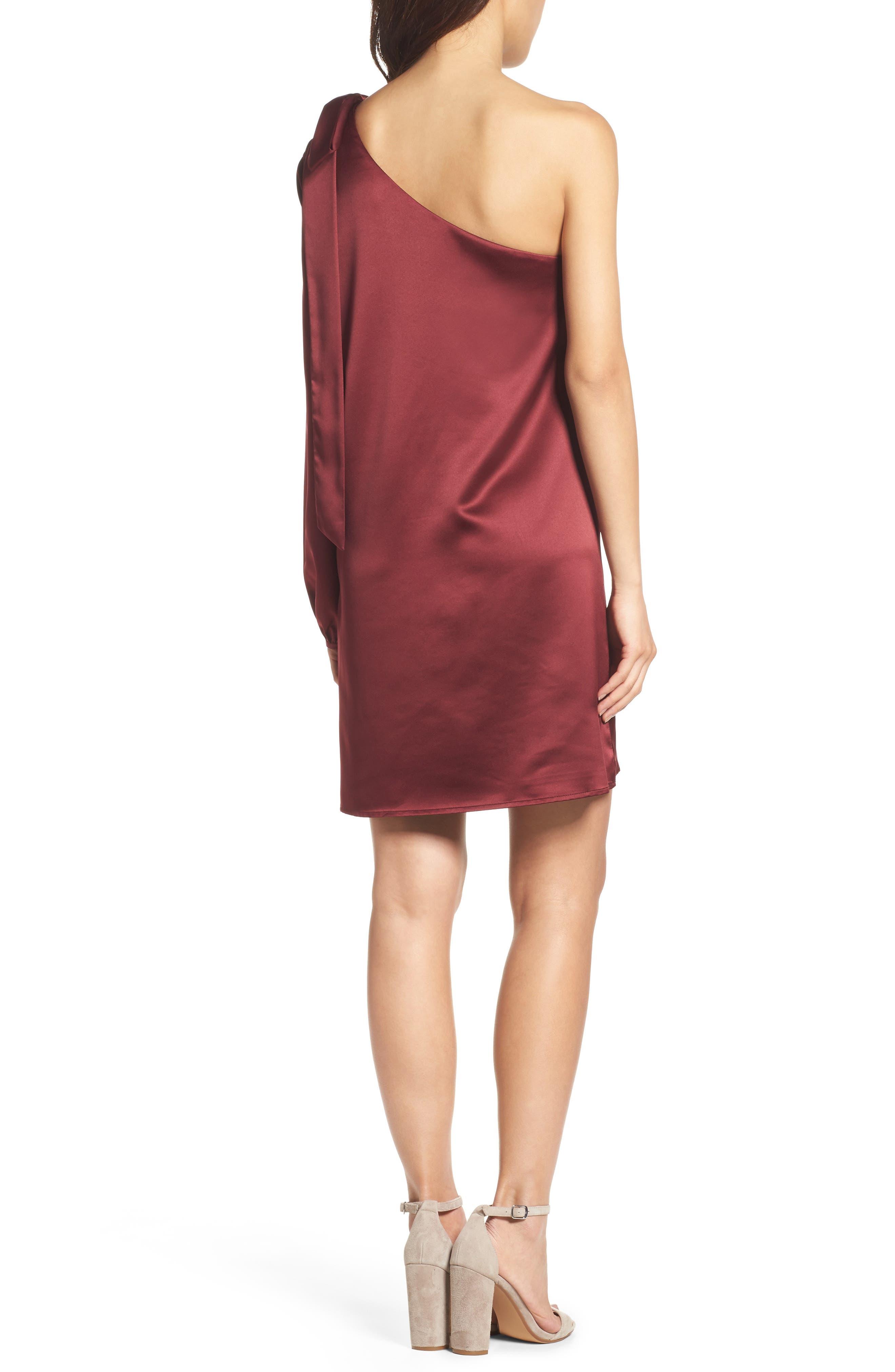One-Sleeve Shift Dress,                             Alternate thumbnail 4, color,