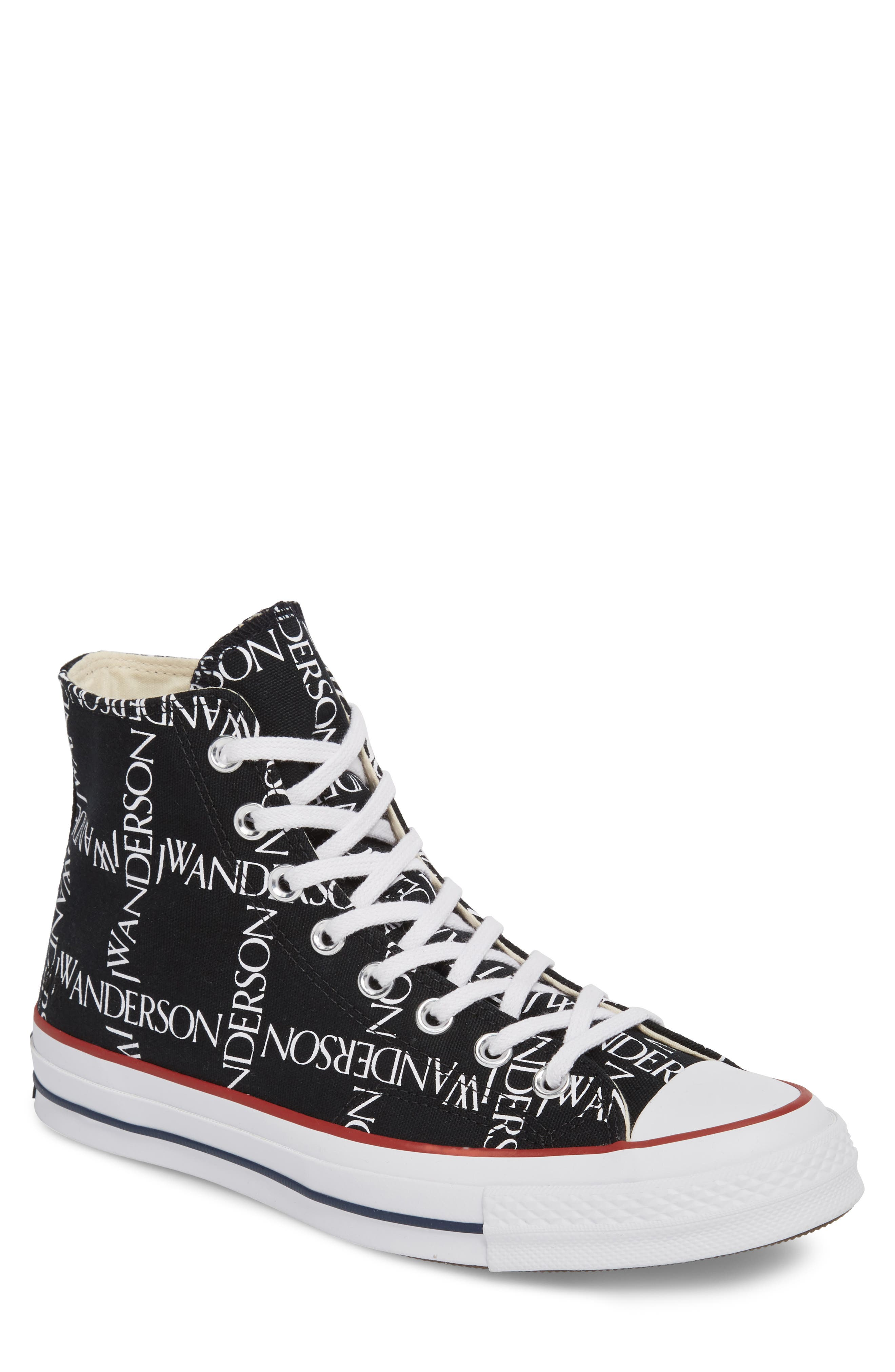 x JW Anderson Chuck Taylor<sup>®</sup> All Star<sup>®</sup> 70 Grid Sneaker,                         Main,                         color, BLACK CANVAS