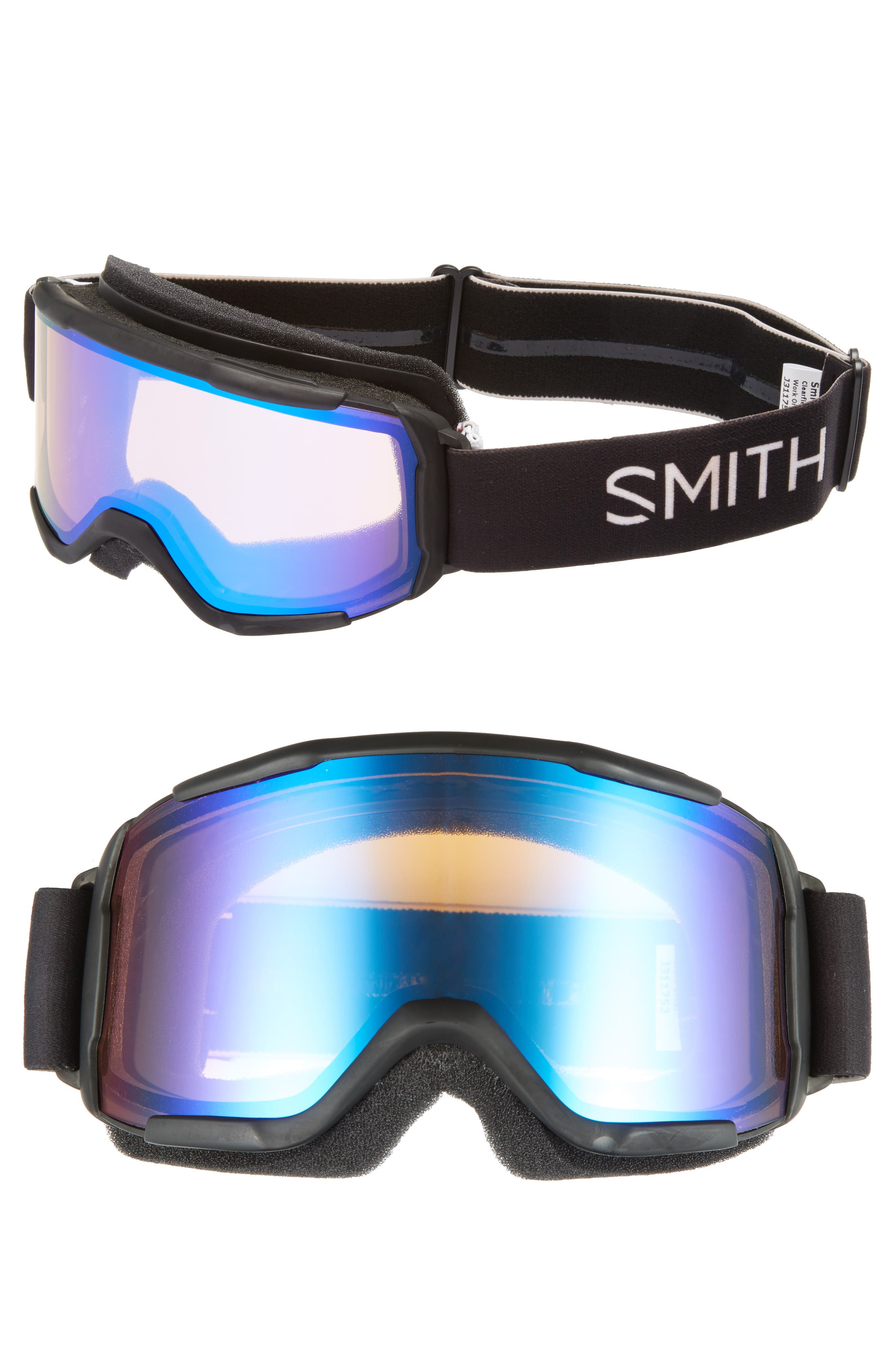 Daredevil 175mm Snow Goggles,                         Main,                         color, BLACK/ MIRROR