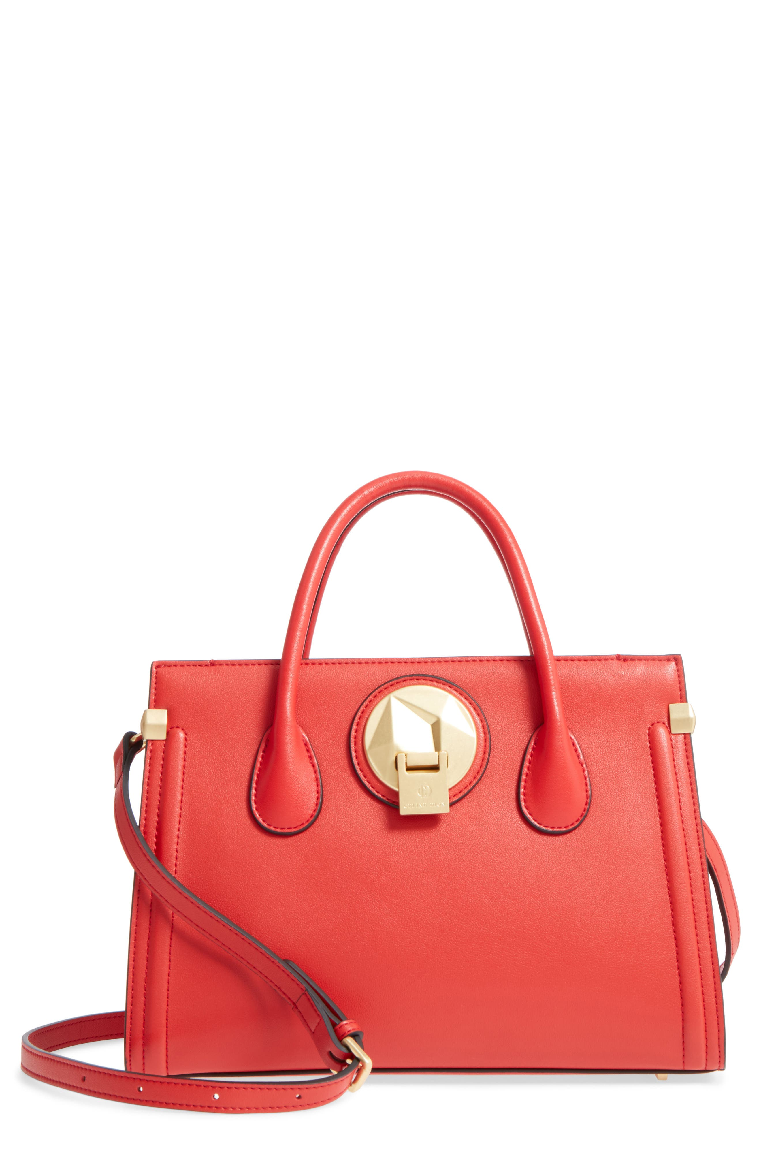 Céline Dion Octave Leather Satchel,                         Main,                         color, 600
