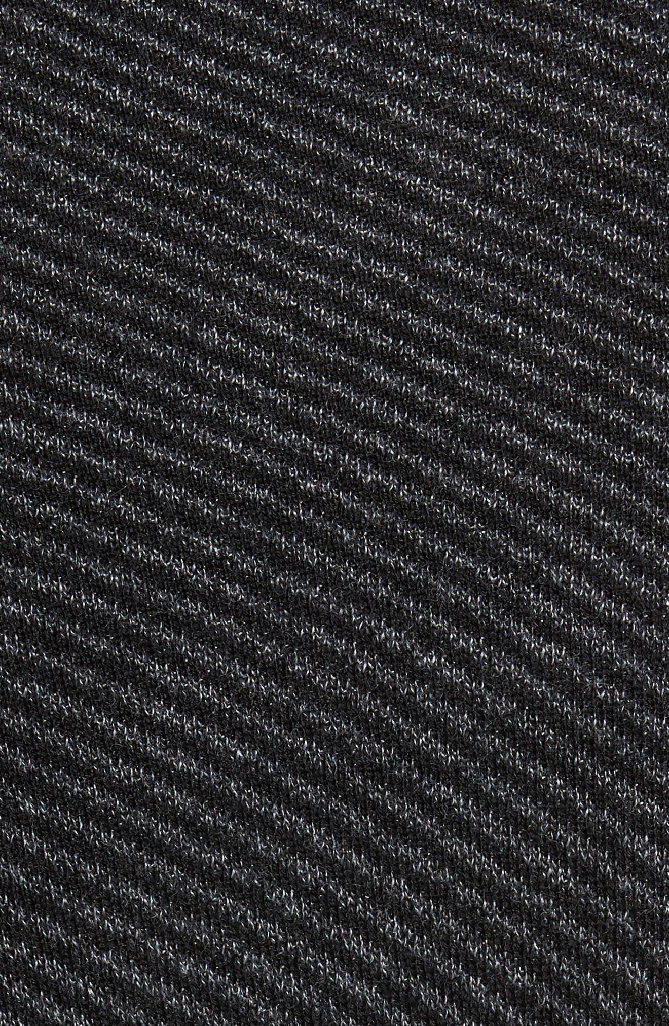 Stripe Quarter Zip Sweater,                             Alternate thumbnail 5, color,                             001