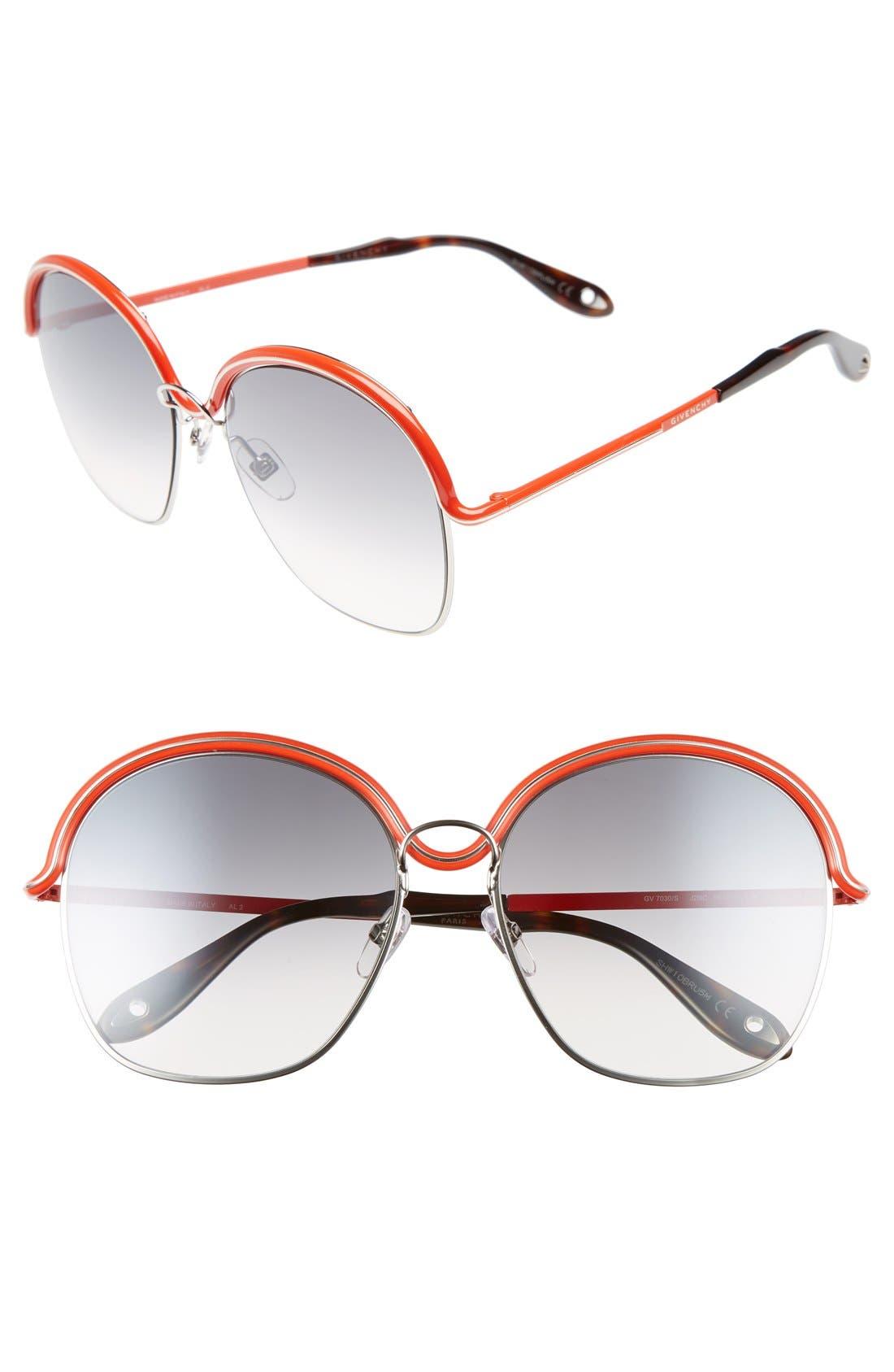 7030/S 58mm Oversized Sunglasses,                             Alternate thumbnail 4, color,                             040