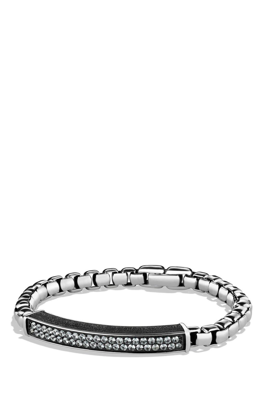 Pavé ID Bracelet with Gray Sapphires,                         Main,                         color, GREY SAPPHIRE