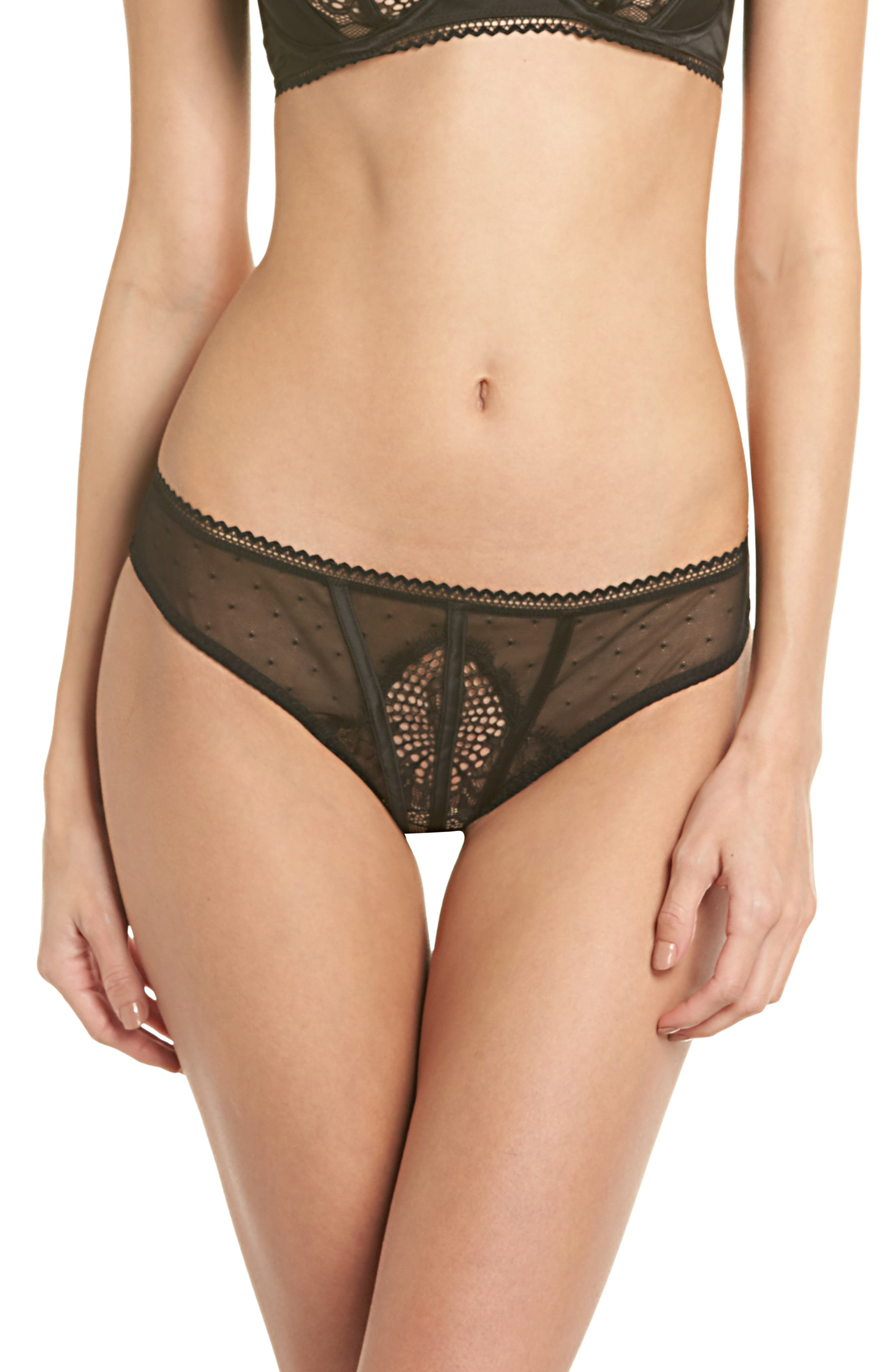 Thistle & Spire All Wrapped Up Thong,                             Main thumbnail 1, color,                             001