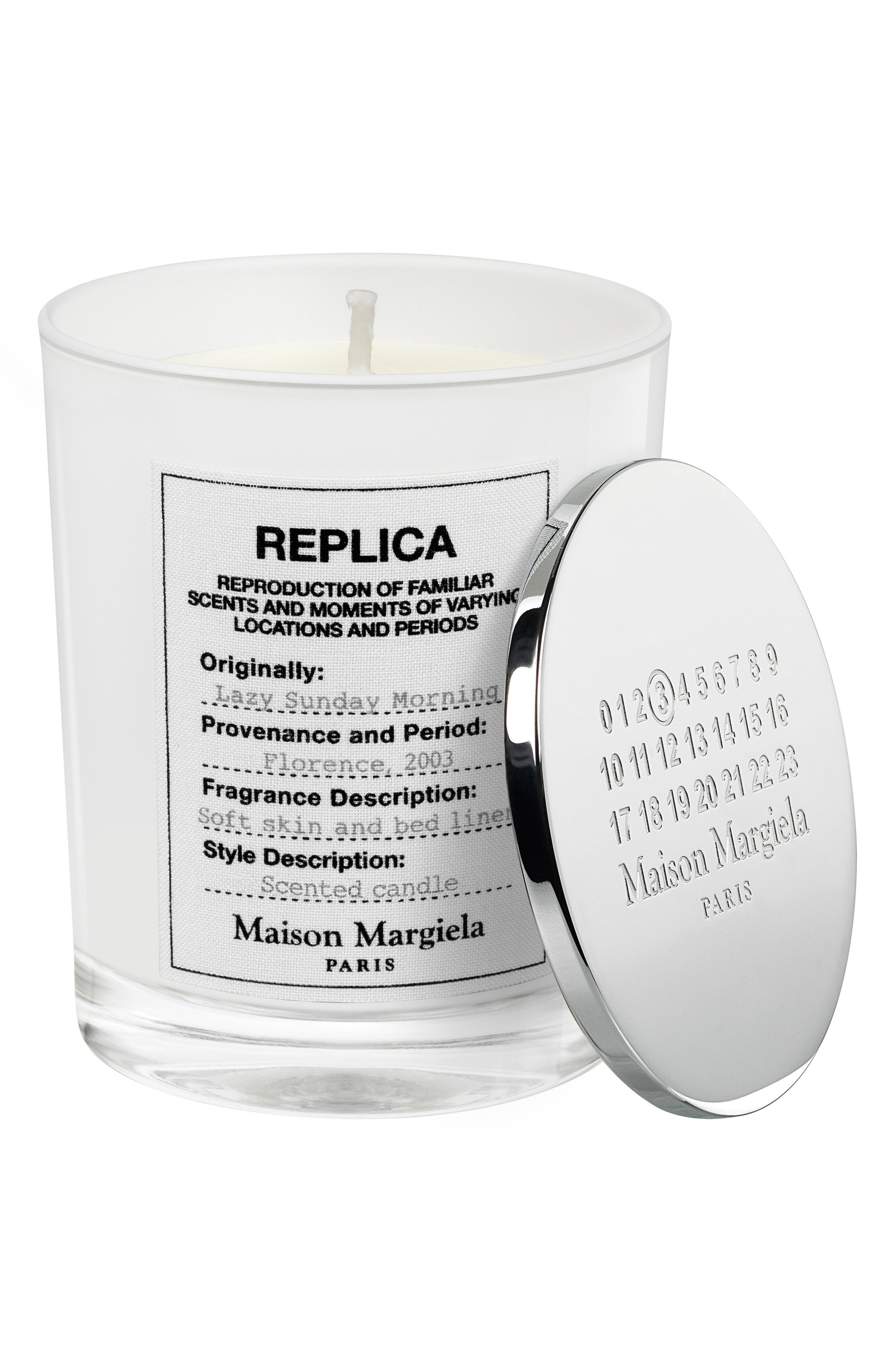 Replica Lazy Sunday Morning Candle,                             Alternate thumbnail 2, color,                             000