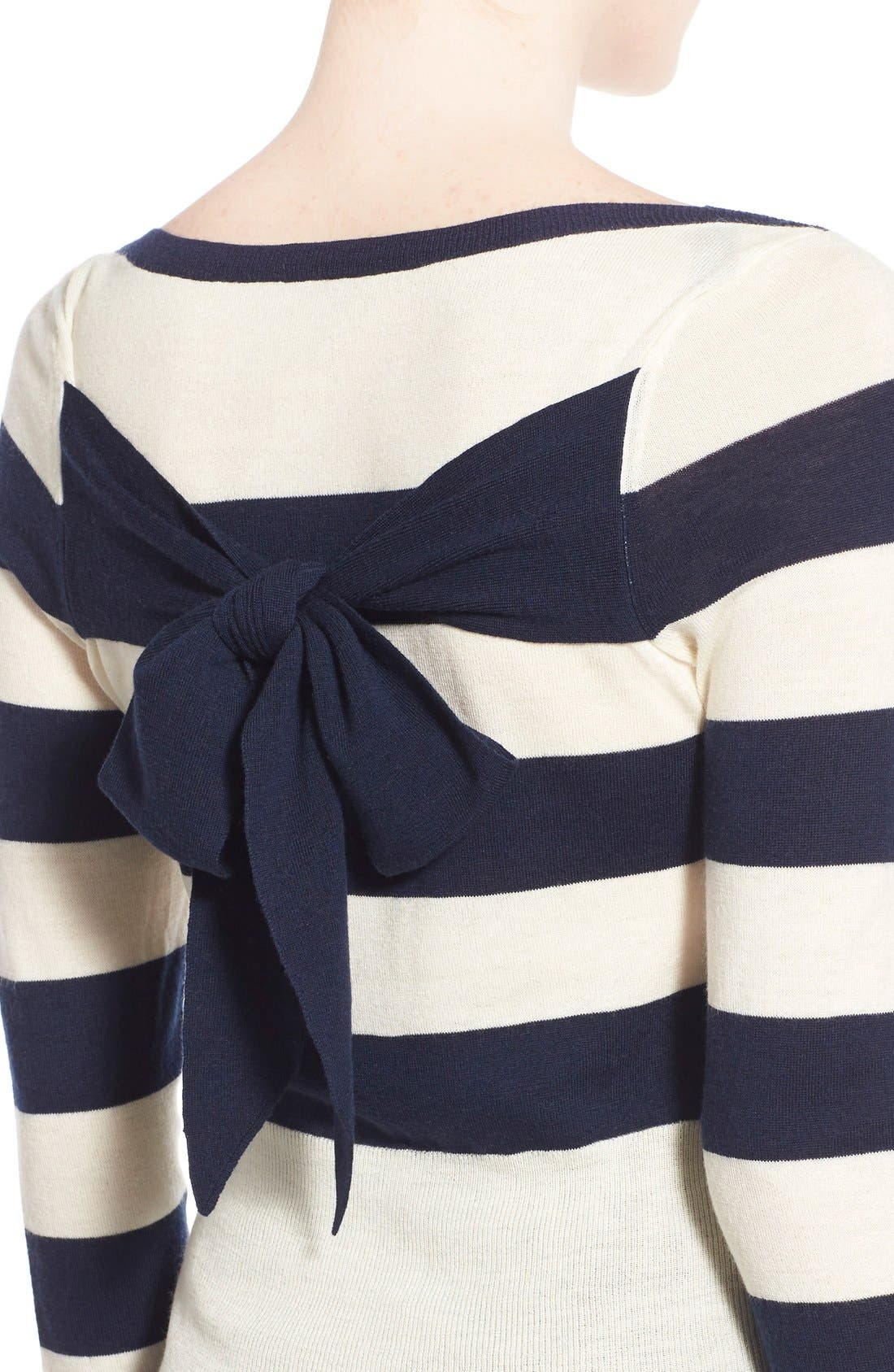 Stripe Wool & Cashmere Pullover,                             Alternate thumbnail 3, color,                             400