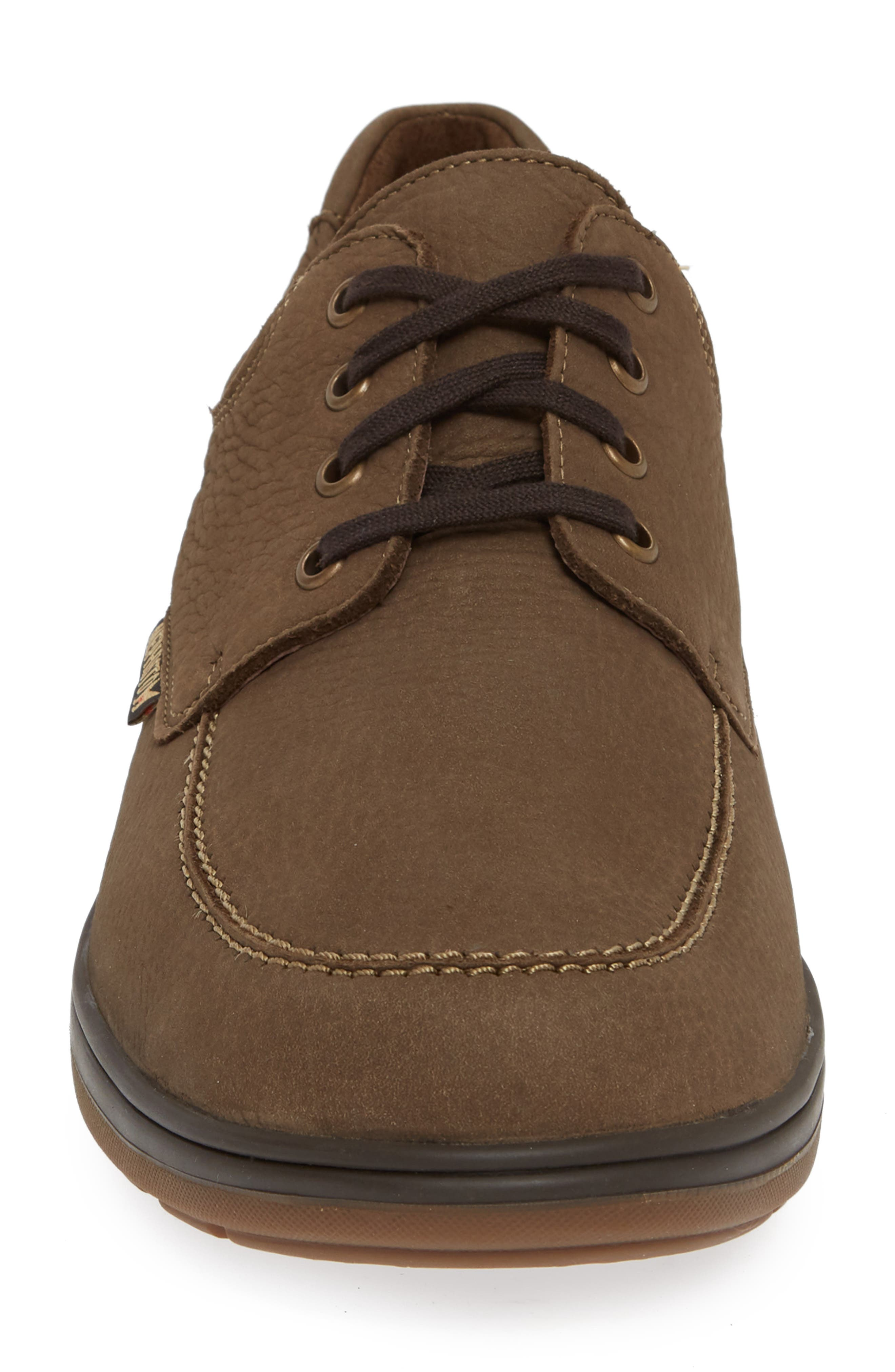 Douk HydroProtect Waterproof Moc Toe Derby,                             Alternate thumbnail 4, color,                             CAMEL SPORTBUCK