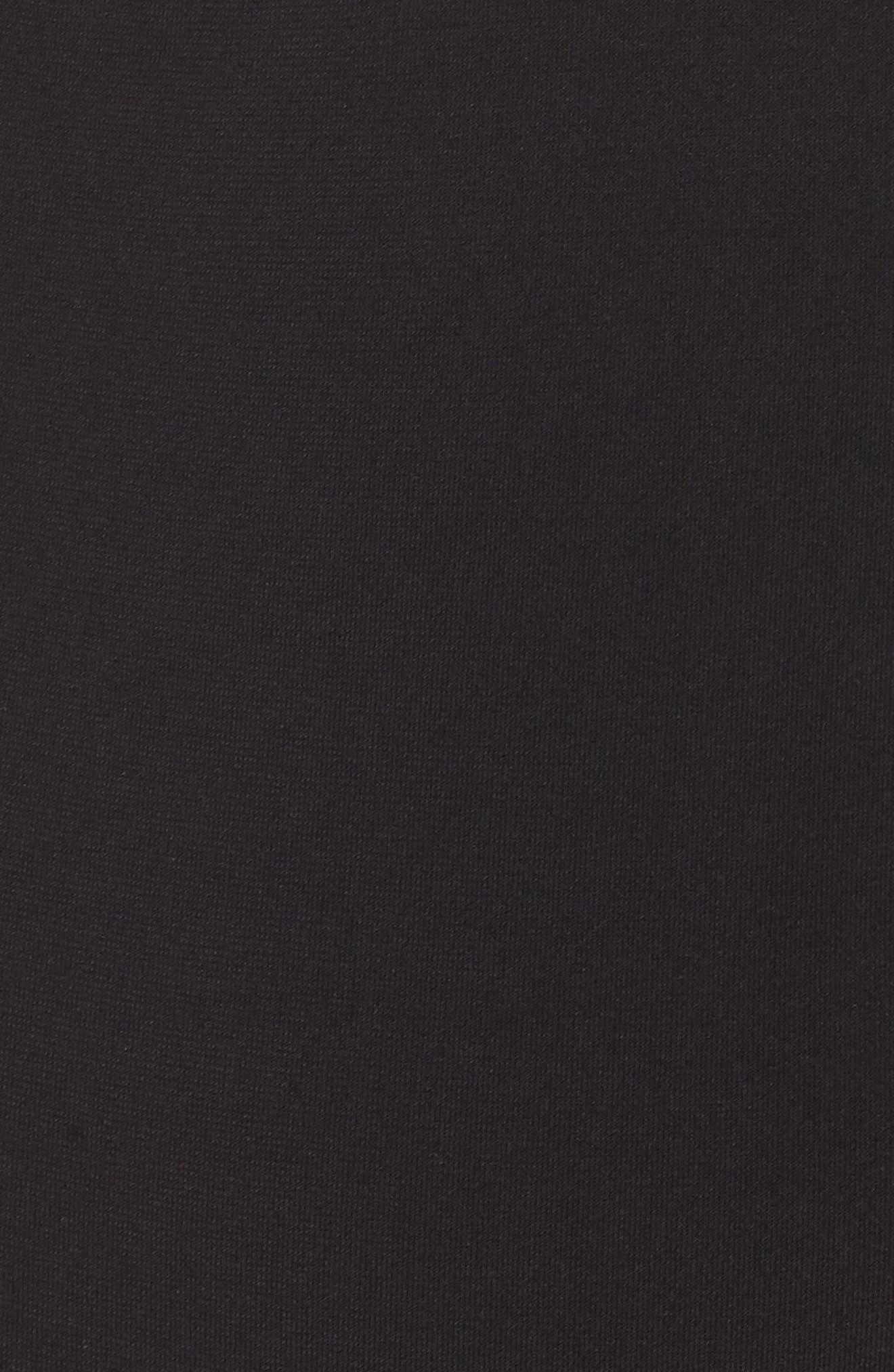 ROBIN PICCONE,                             Malia Ruffle One-Piece Swimsuit,                             Alternate thumbnail 5, color,                             BLACK/ WHITE