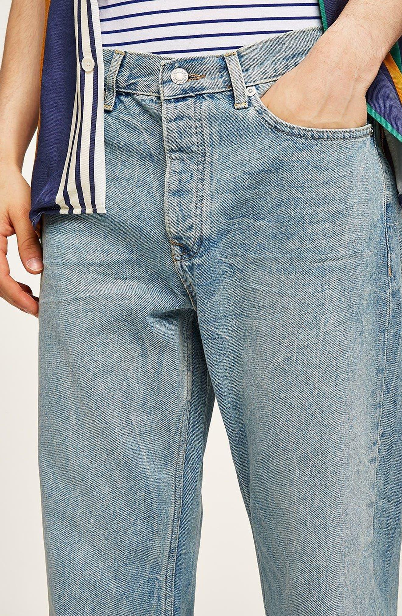Original Fit Straight Leg Jeans,                             Alternate thumbnail 4, color,                             400