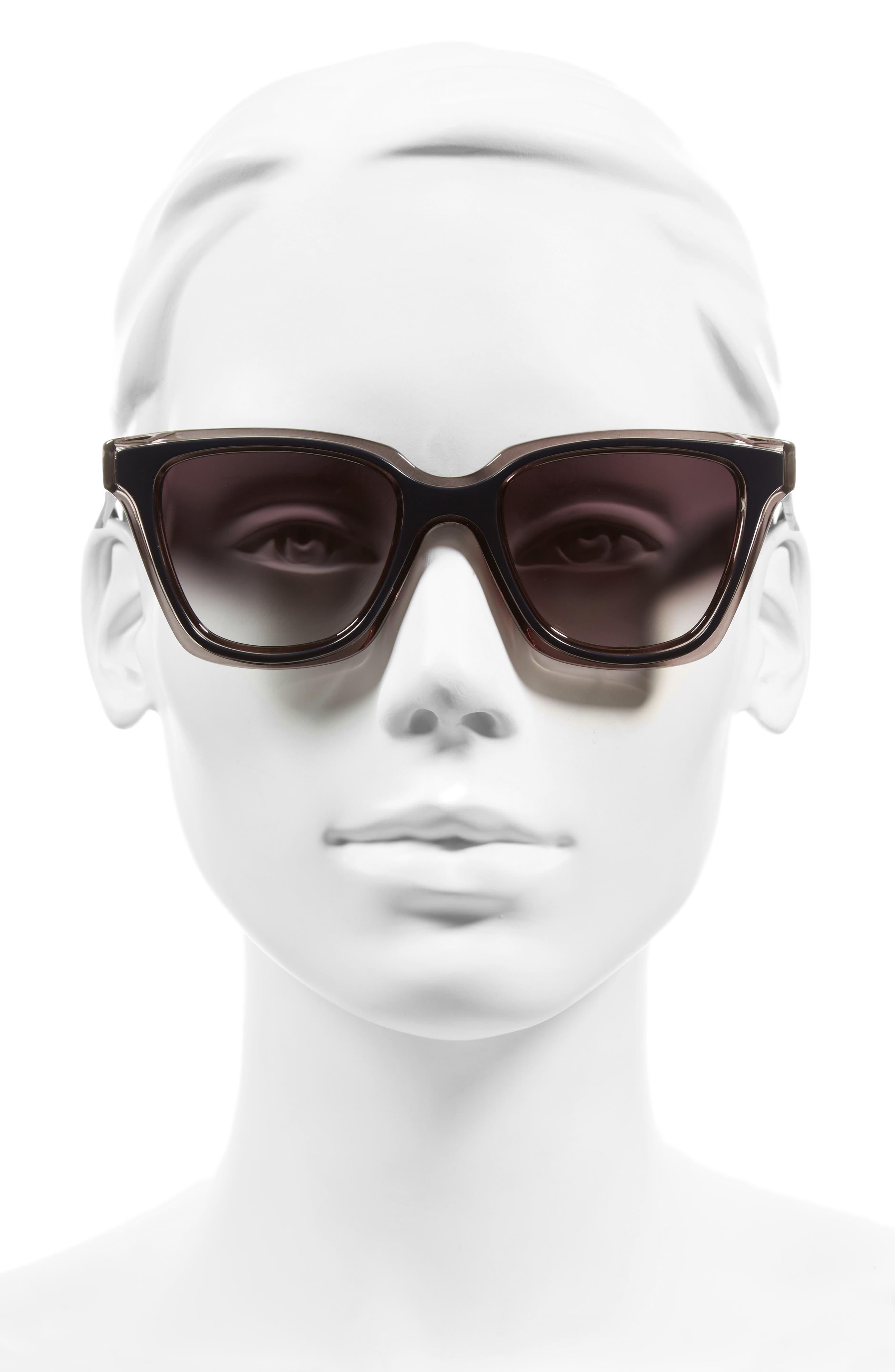 Be You 50mm Gradient Sunglasses,                             Alternate thumbnail 3, color,                             020