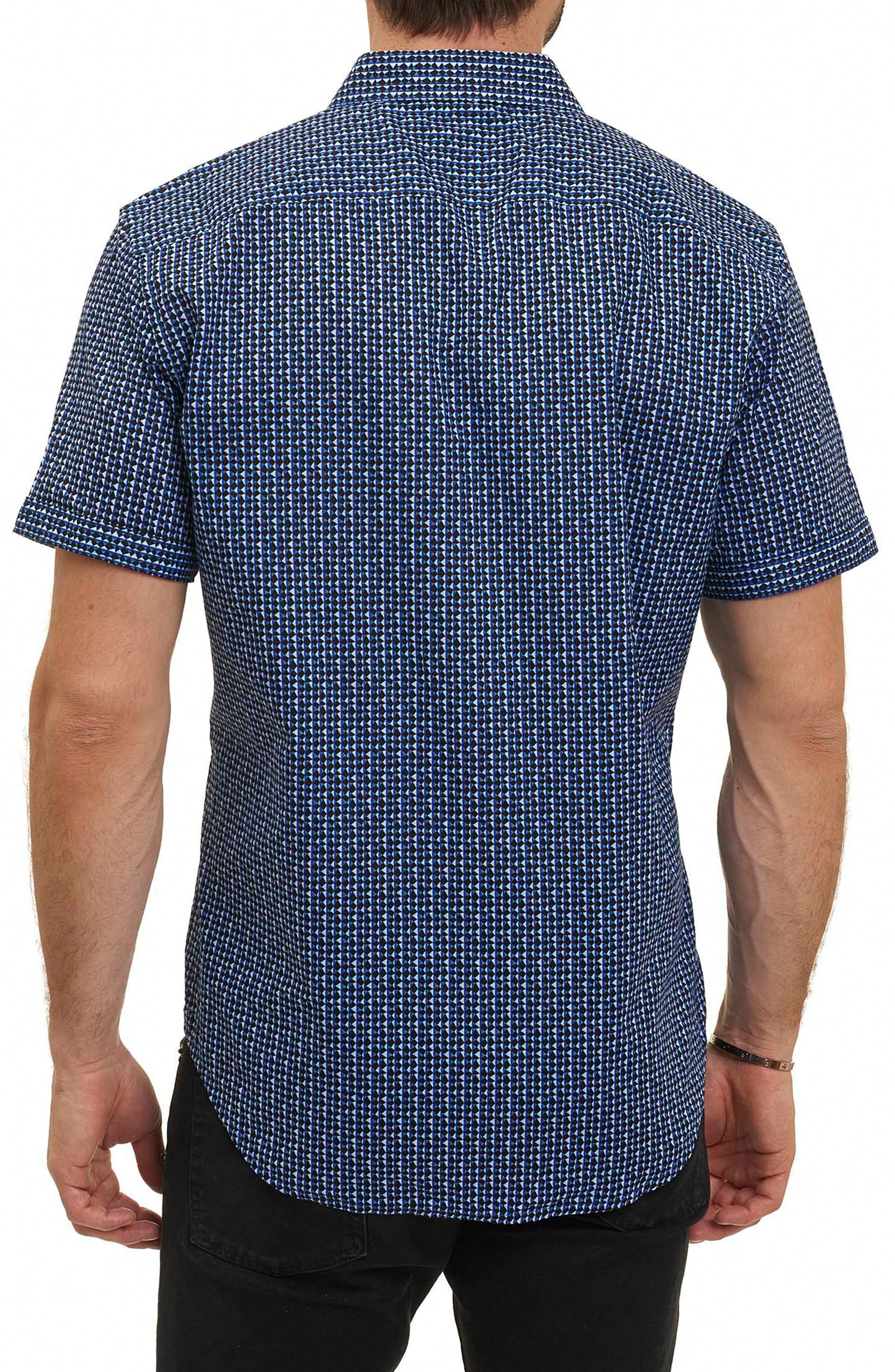 Gardena Classic Fit Geo Print Short Sleeve Sport Shirt,                             Alternate thumbnail 2, color,                             400