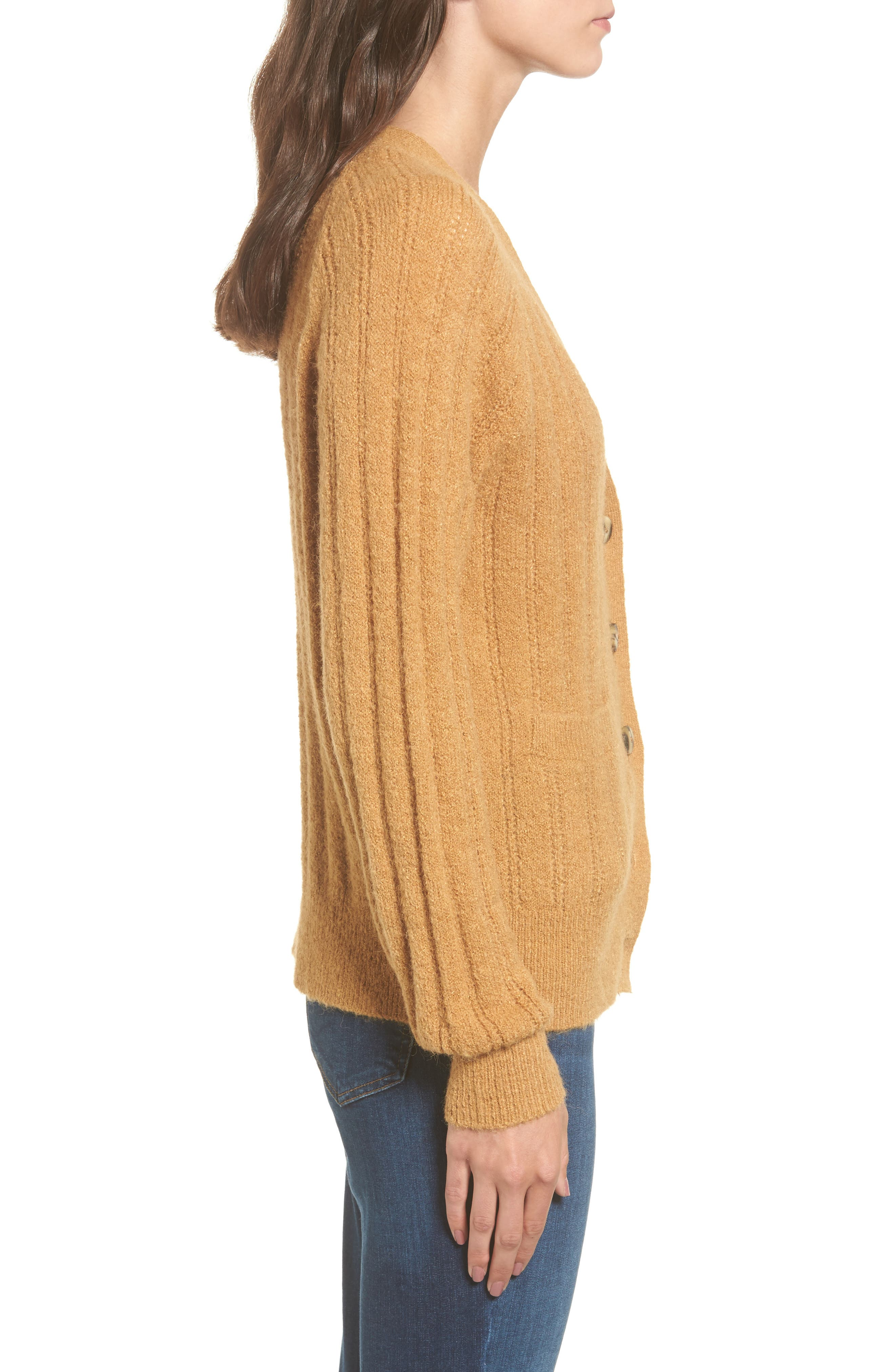 Rib Knit Grandpa Cardigan,                             Alternate thumbnail 3, color,