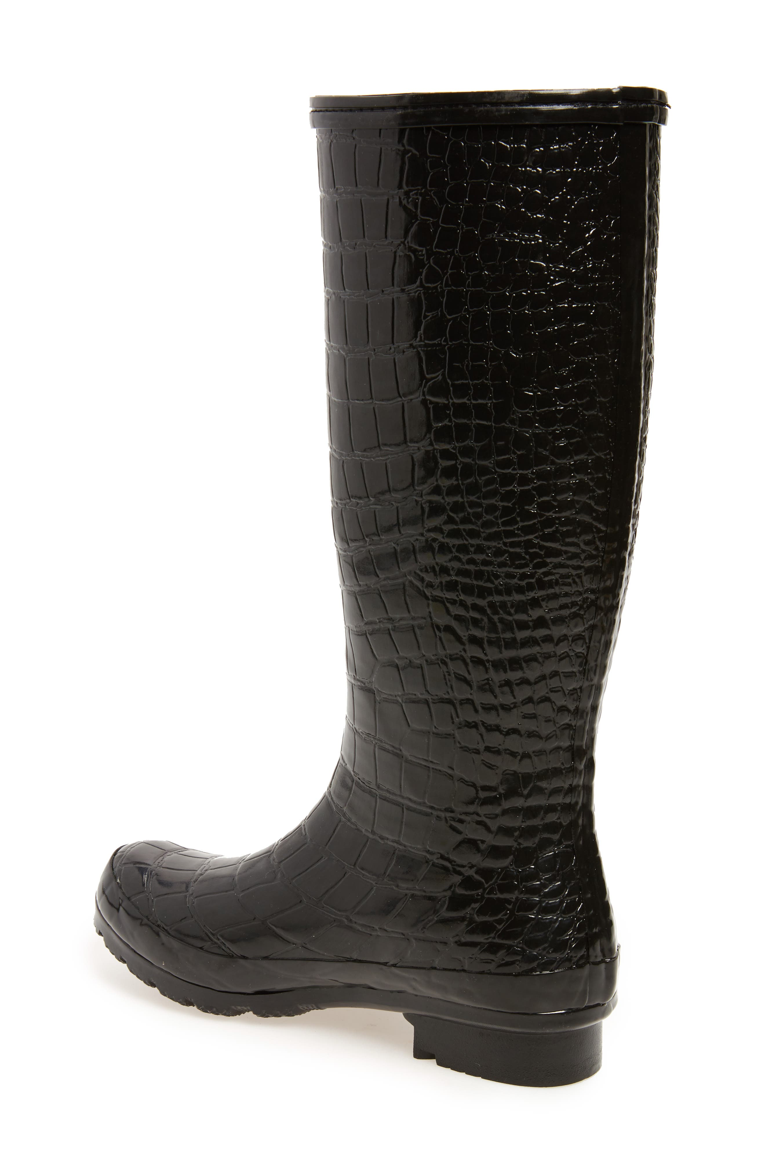 Classic Glossy Rain Boot,                             Alternate thumbnail 2, color,                             001