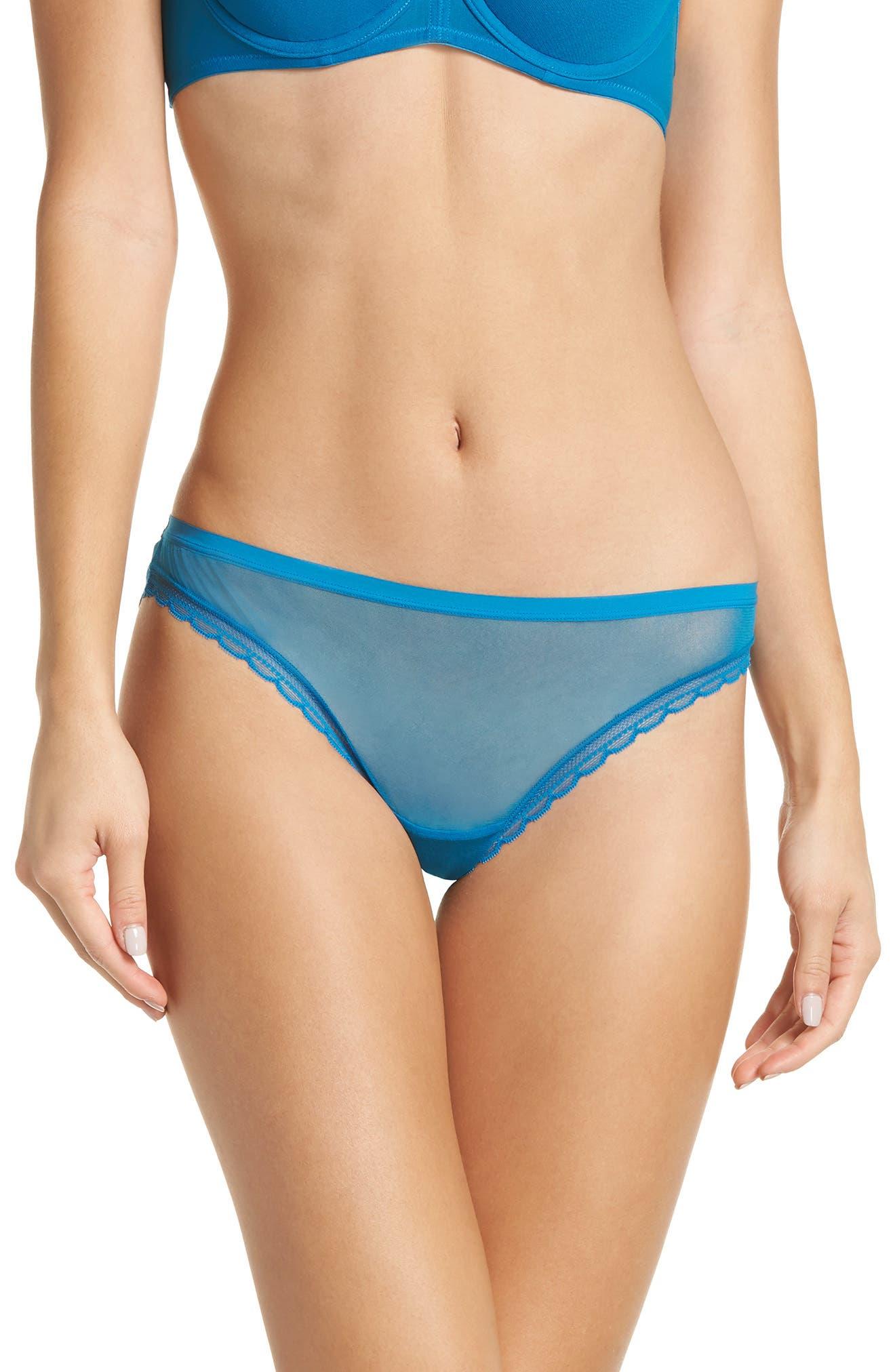 Mesh Bikini,                         Main,                         color, DEEP TOPAZ