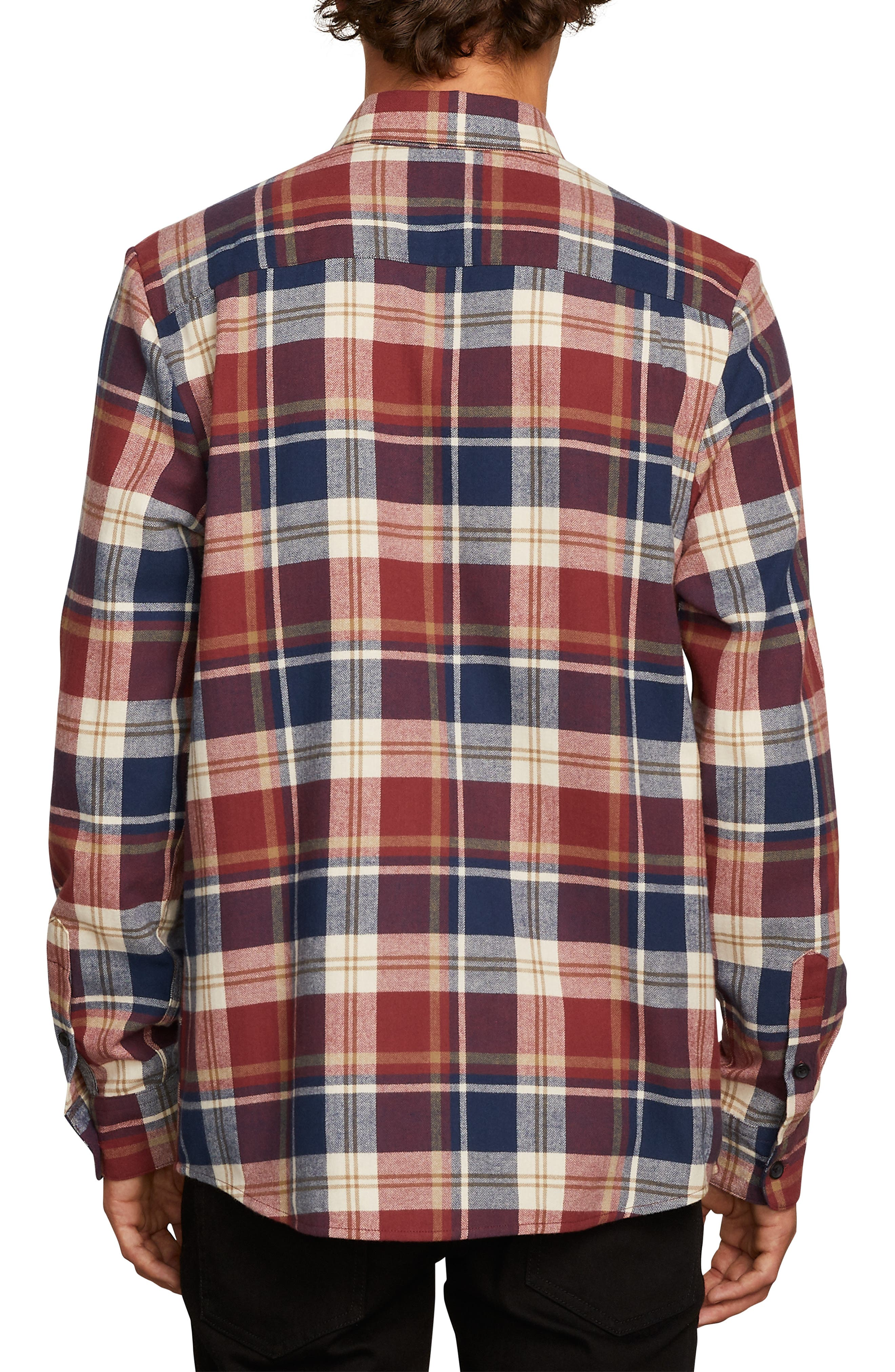 Caden Plaid Flannel Shirt,                             Alternate thumbnail 2, color,                             MELINDIGO