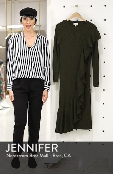 Collection Ruffle-Front Sweater Dress, sales video thumbnail