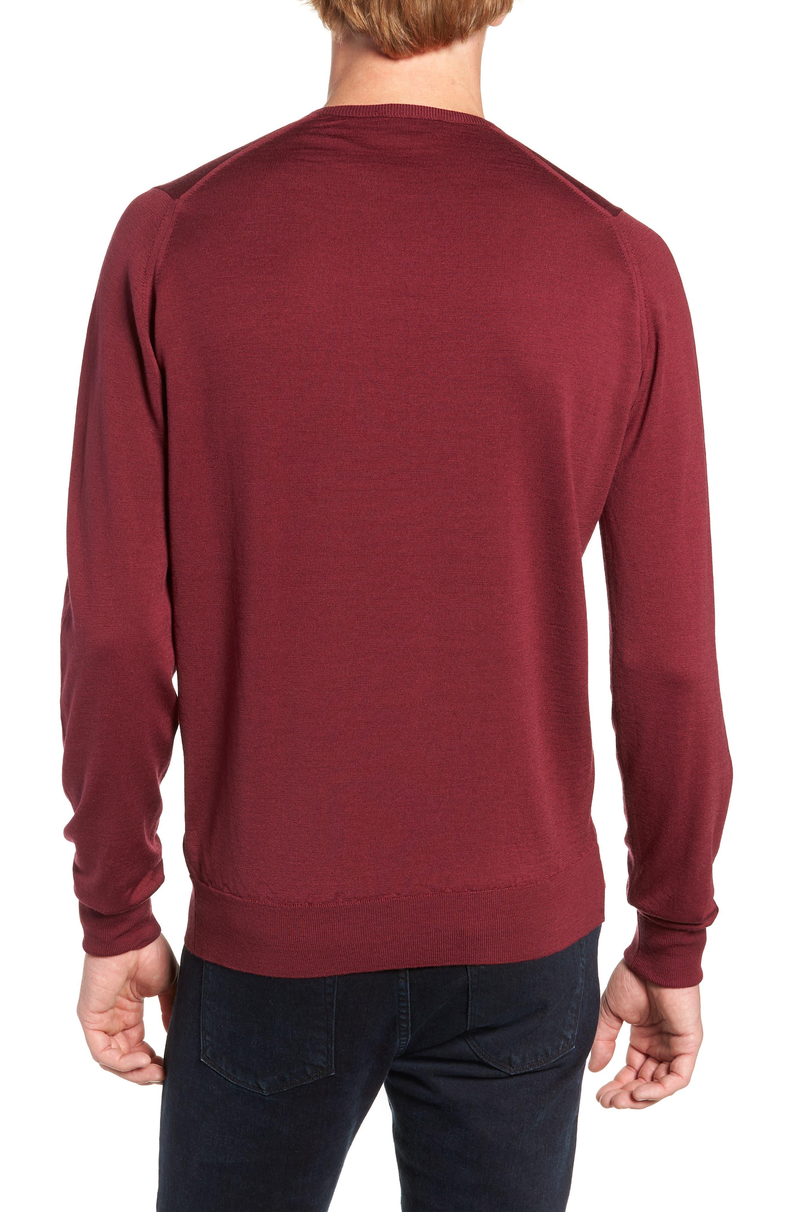 'Marcus' Easy Fit Crewneck Wool Sweater,                             Alternate thumbnail 2, color,                             BOREDAUX