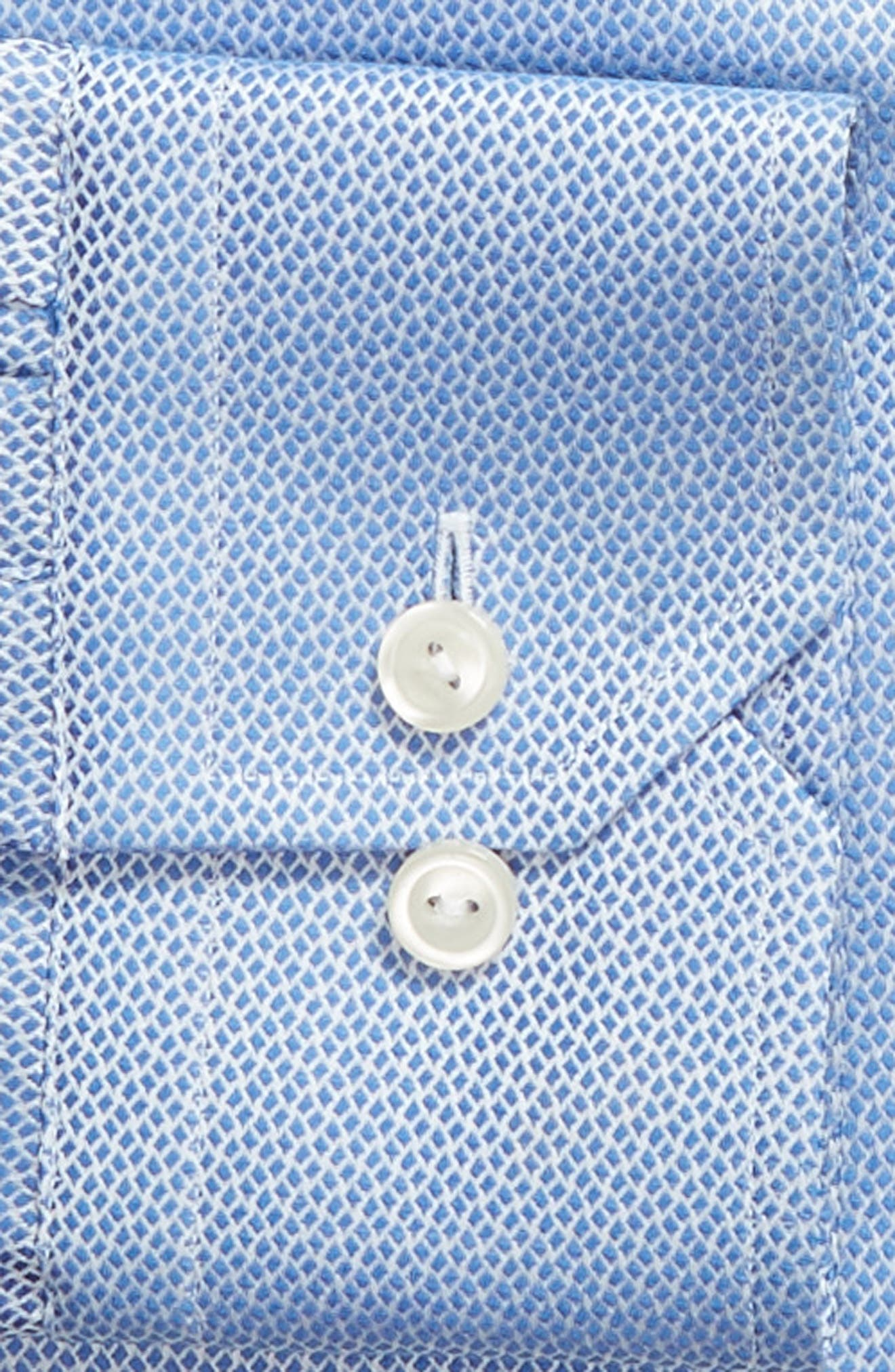 Contemporary Fit Print Dress Shirt,                             Alternate thumbnail 6, color,