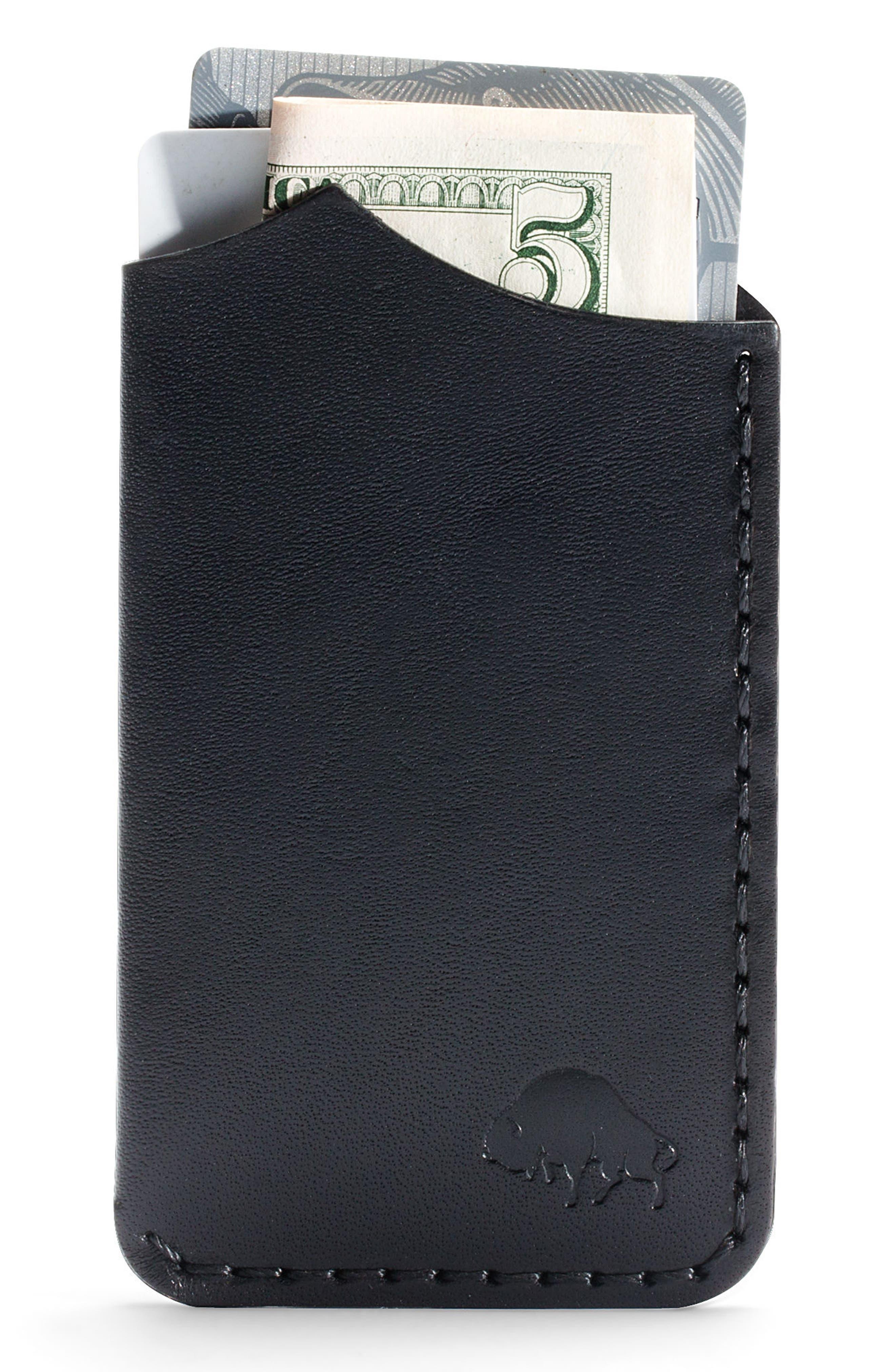 No. 1 Leather Card Case,                             Alternate thumbnail 2, color,                             JET
