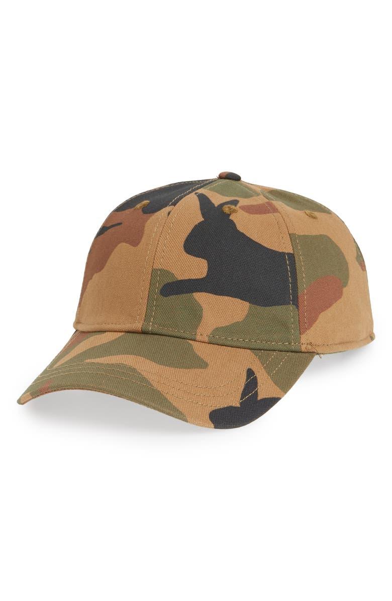 Madewell CANVAS BASEBALL CAP - GREEN