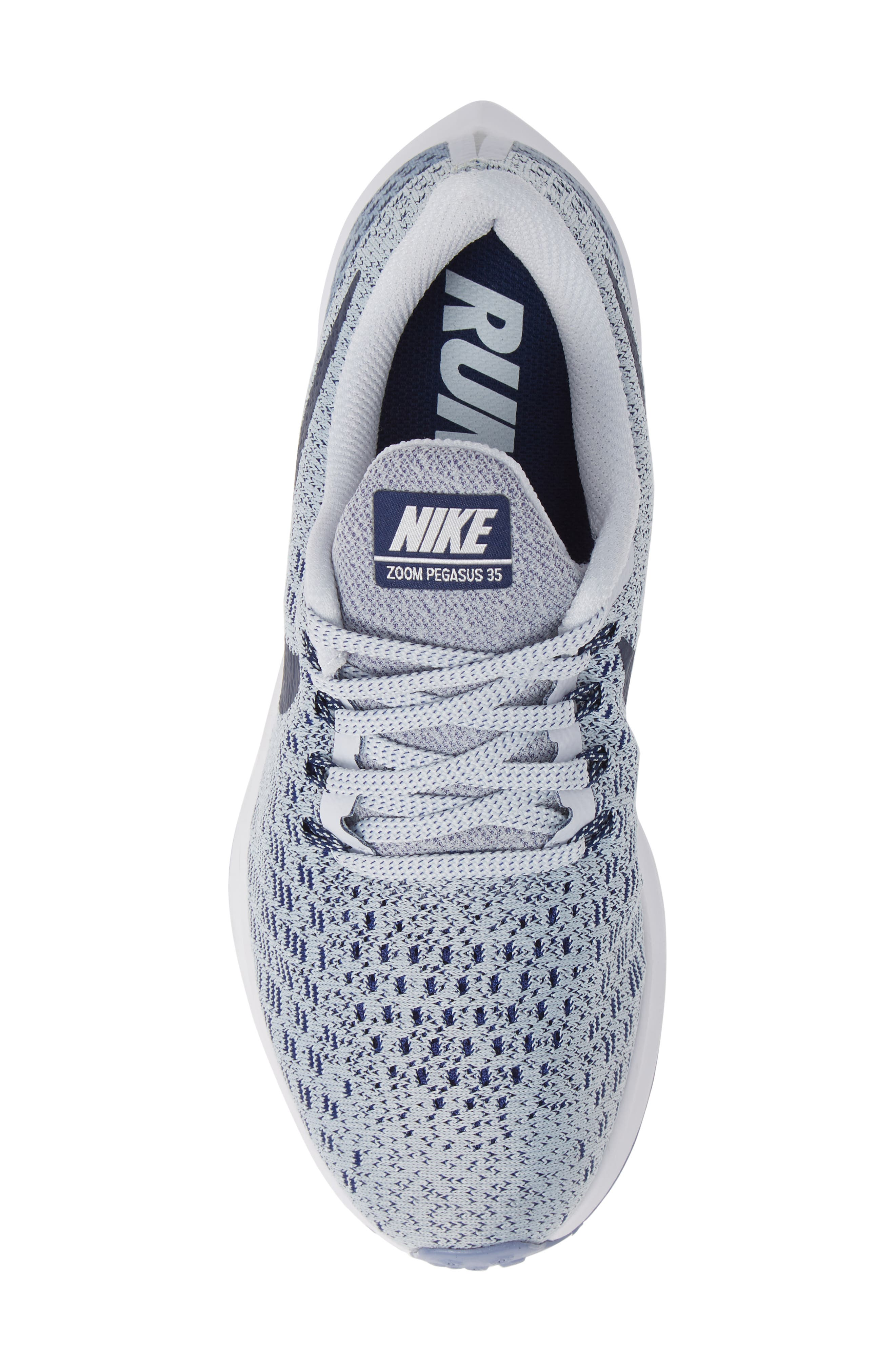 Air Zoom Pegasus 35 Running Shoe,                             Alternate thumbnail 5, color,                             GREY/ BLUE/ WHITE/ ALUMINUM