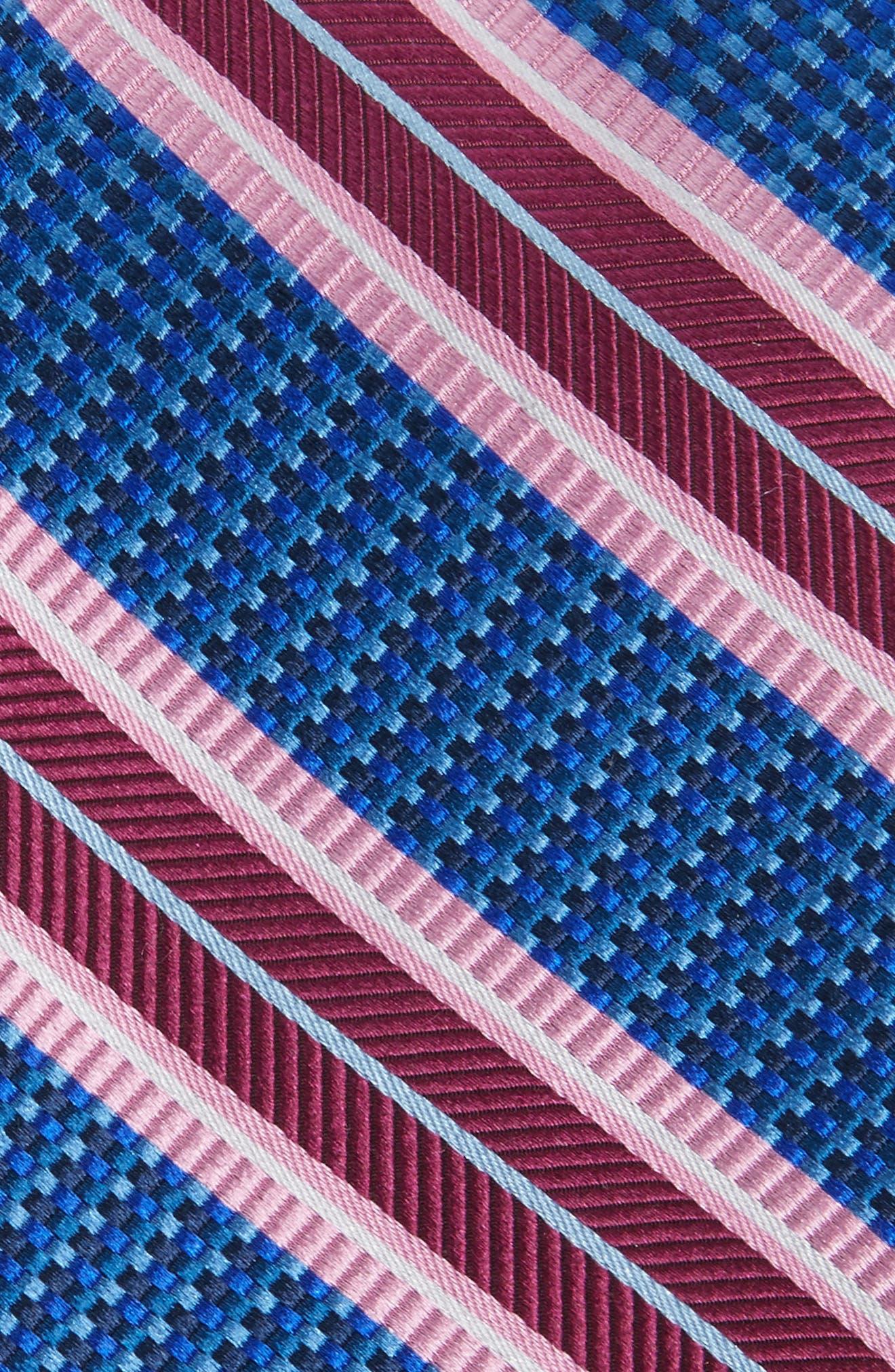Textured Stripes Silk Tie,                             Alternate thumbnail 6, color,
