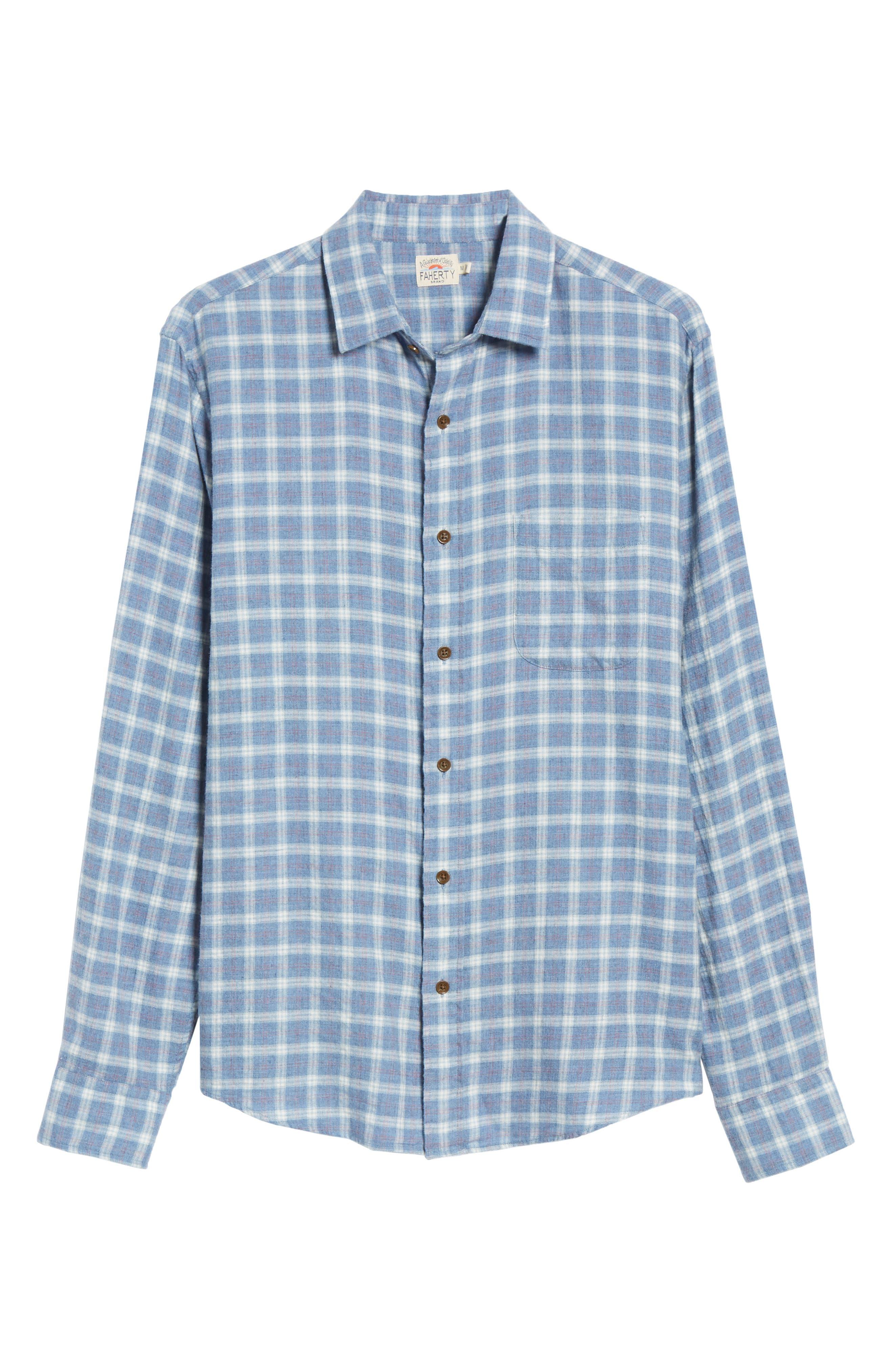 Ventura Oxford Sport Shirt,                             Alternate thumbnail 5, color,                             HEATHER BLUE CHECK