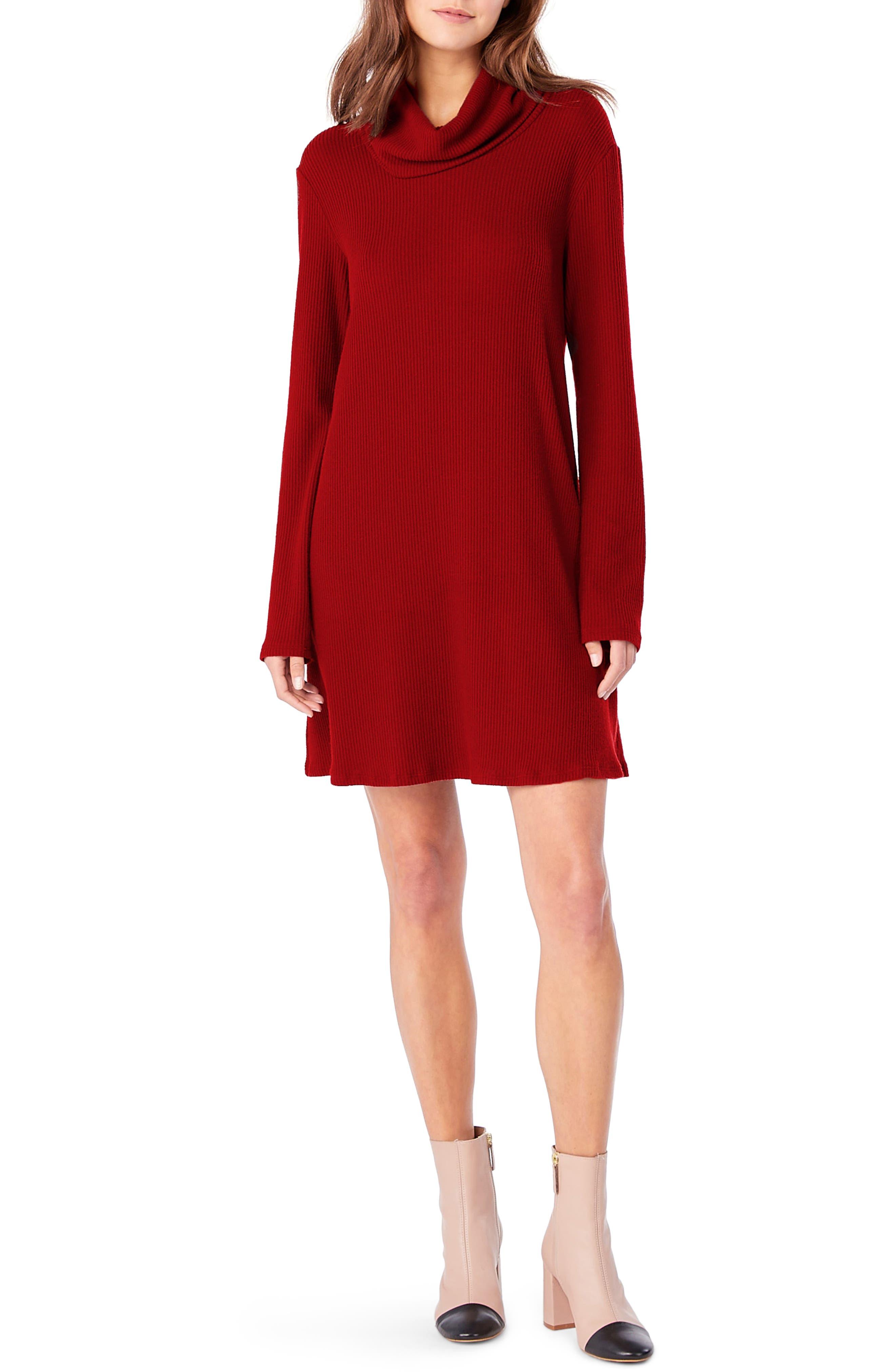 Cowl Neck Knit Dress,                             Main thumbnail 3, color,