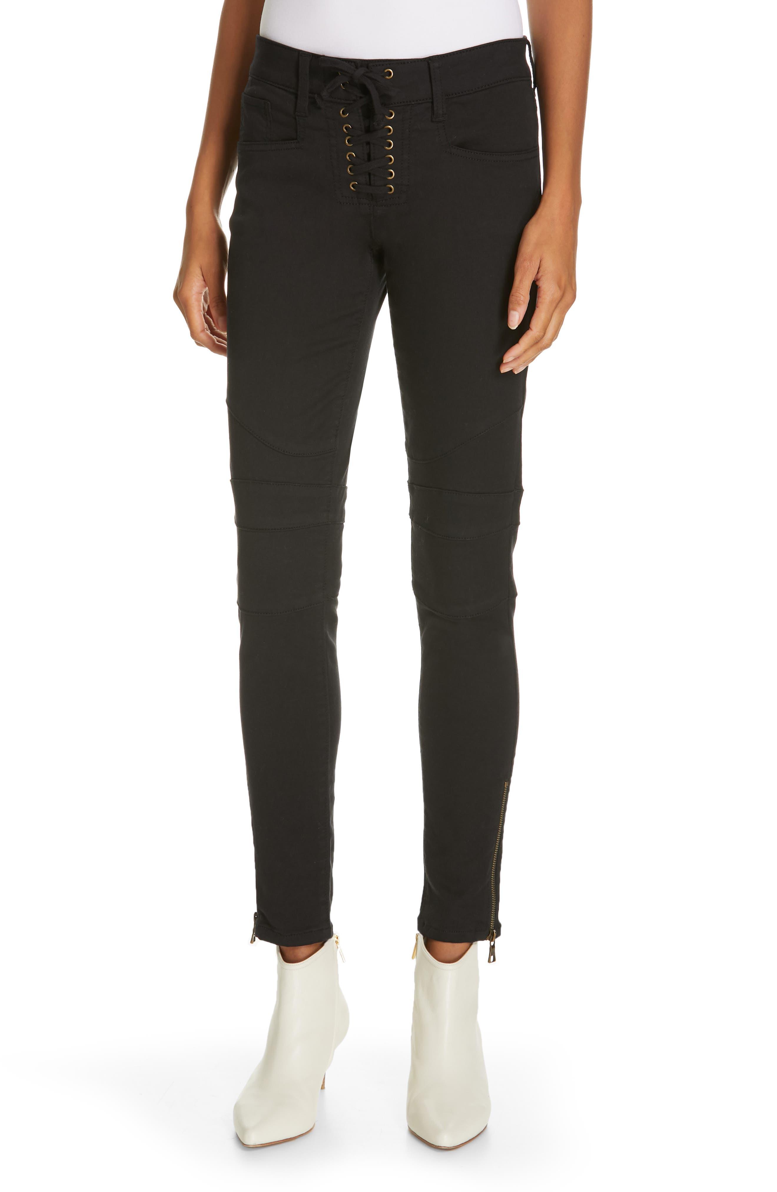 JOIE Adorea Skinny Pants, Main, color, CAVIAR