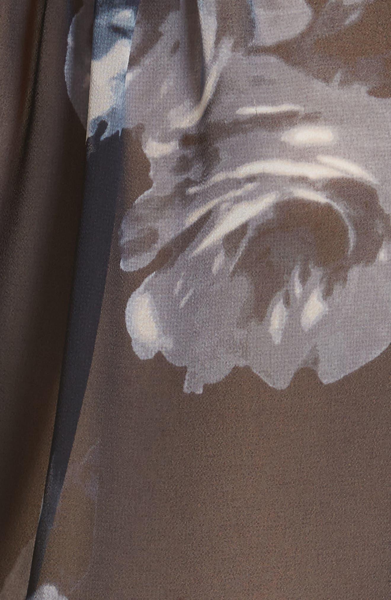 night rose short sleeve top,                             Alternate thumbnail 5, color,                             473