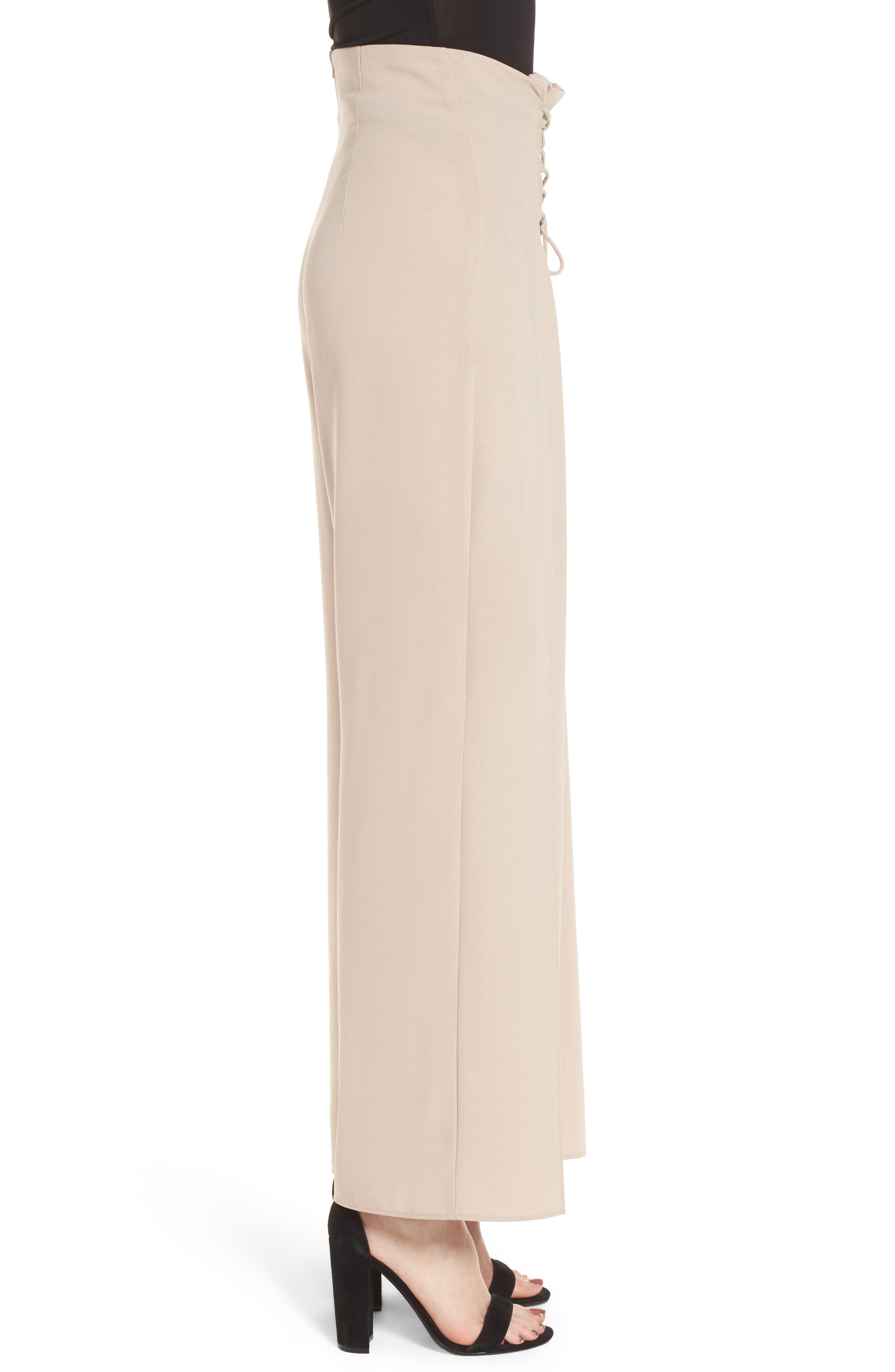 Corset Wide Leg Trousers,                             Alternate thumbnail 3, color,                             270