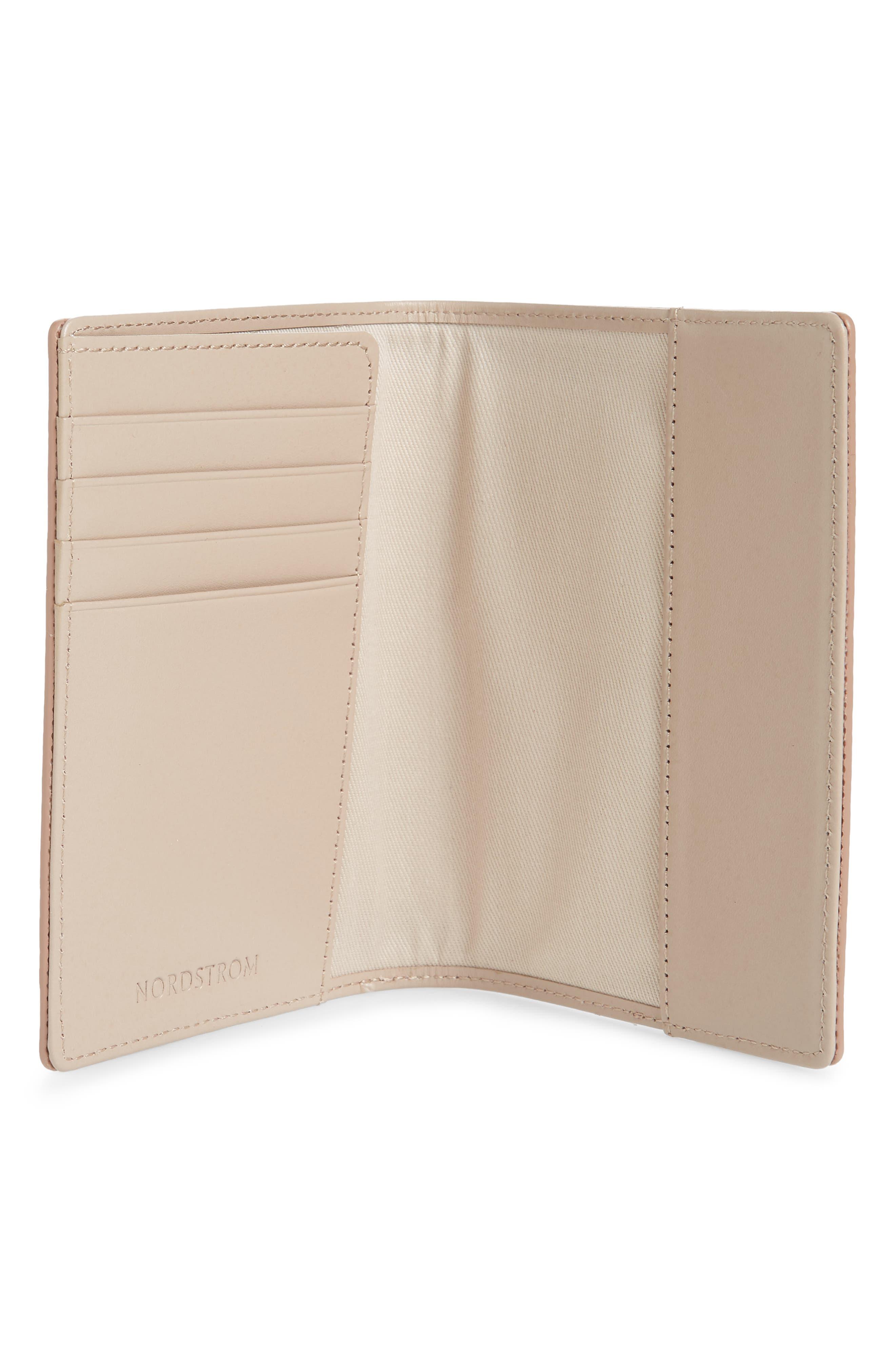 Leather Passport Case,                             Alternate thumbnail 2, color,                             ROSE GOLD